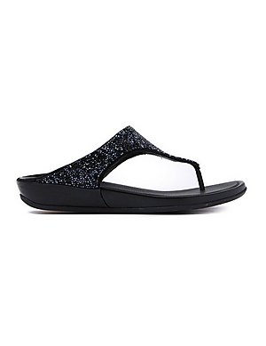 bb68d451969a7a FitFlop Women s Banda Roxy Crystal Toe-Post Sandals - Black ...