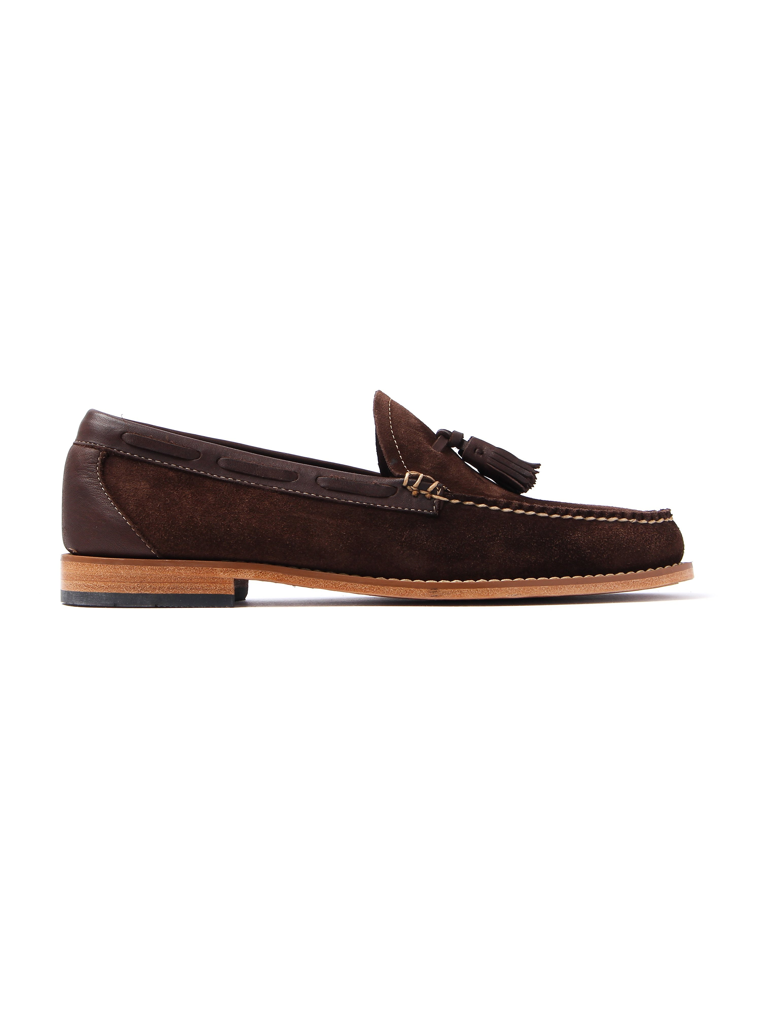 G.H. Bass Men's Weejuns Larkin Reverso Suede & Leather Boater Moccasins - Dark Brown