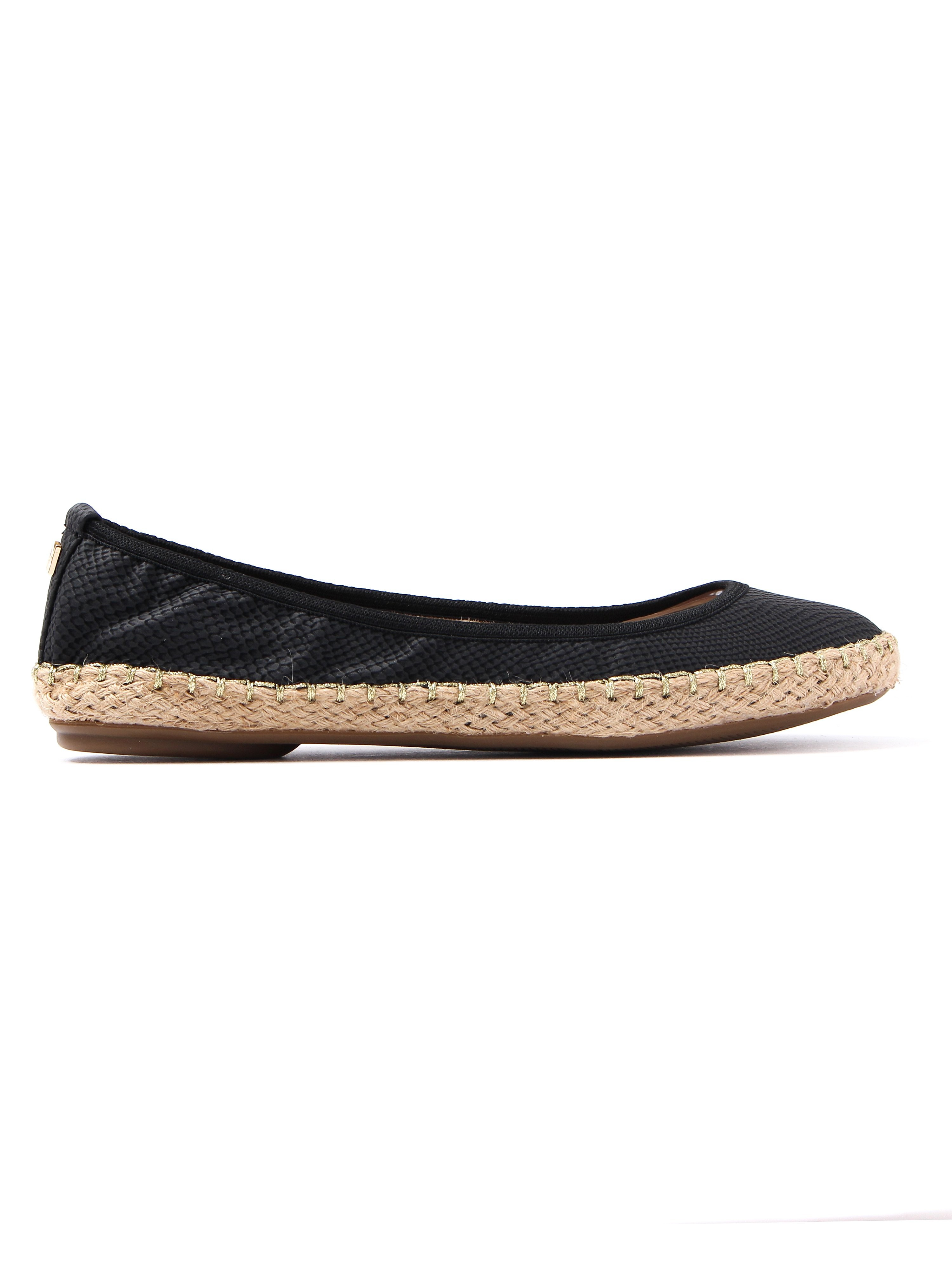 Butterfly Twists Women's Gigi Snake Foldable Ballerina Pumps - Black