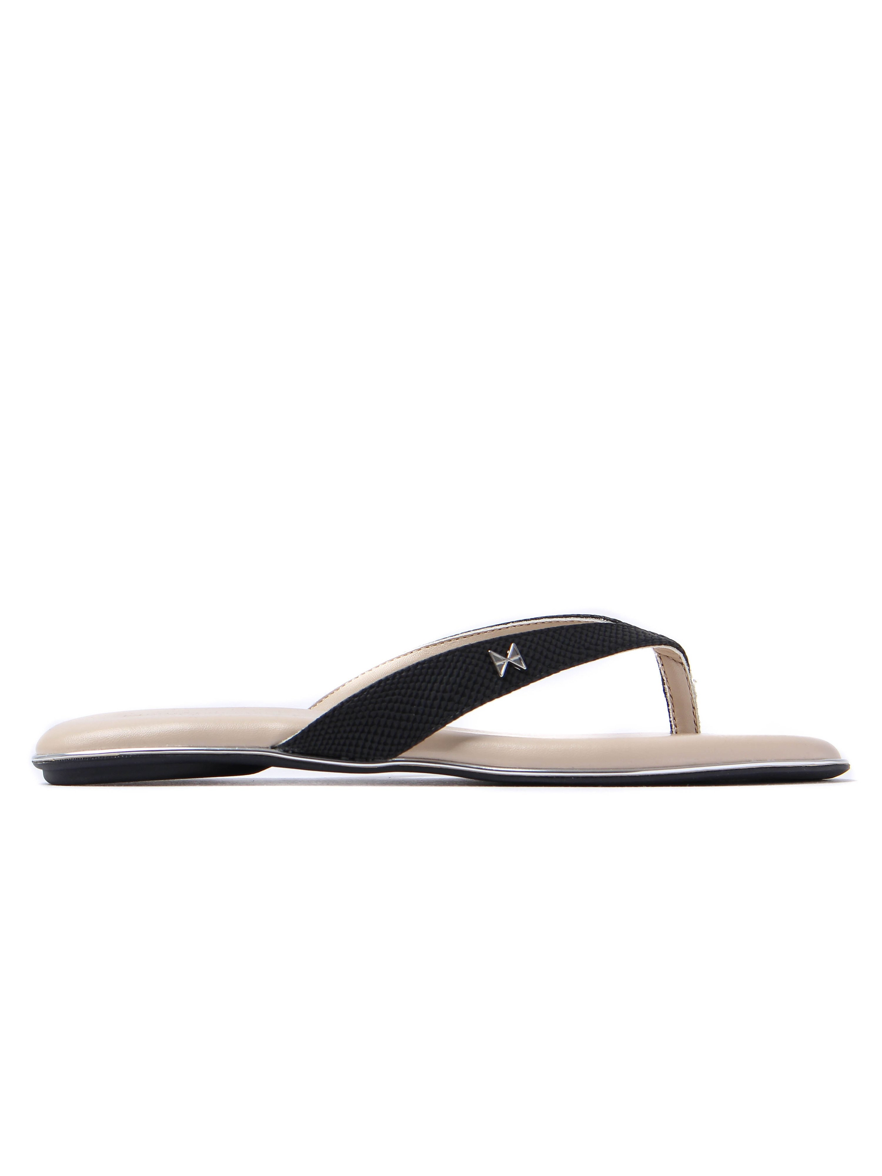 Butterfly Twists Women's Lola Snake Slim Flip Flops - Black