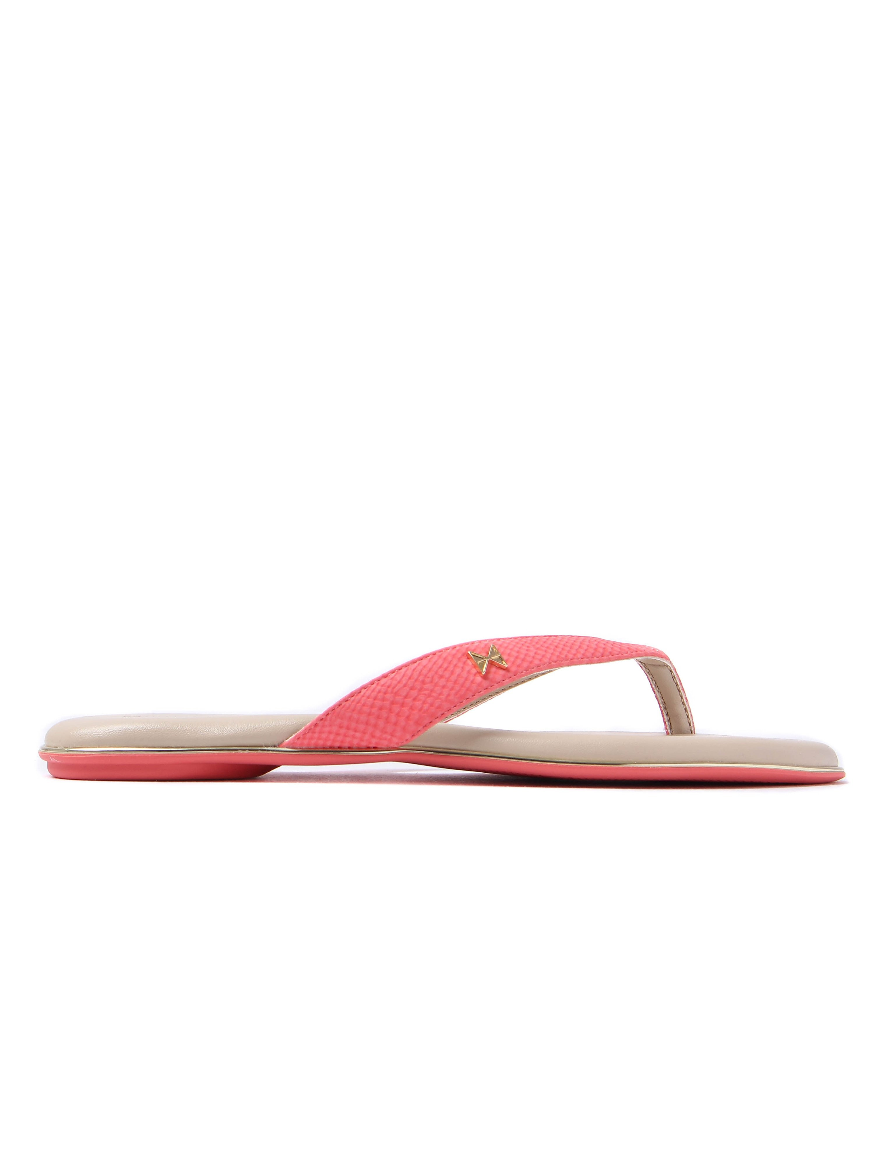 Butterfly Twists Women's Lola Snake Slim Flip Flops - Coral
