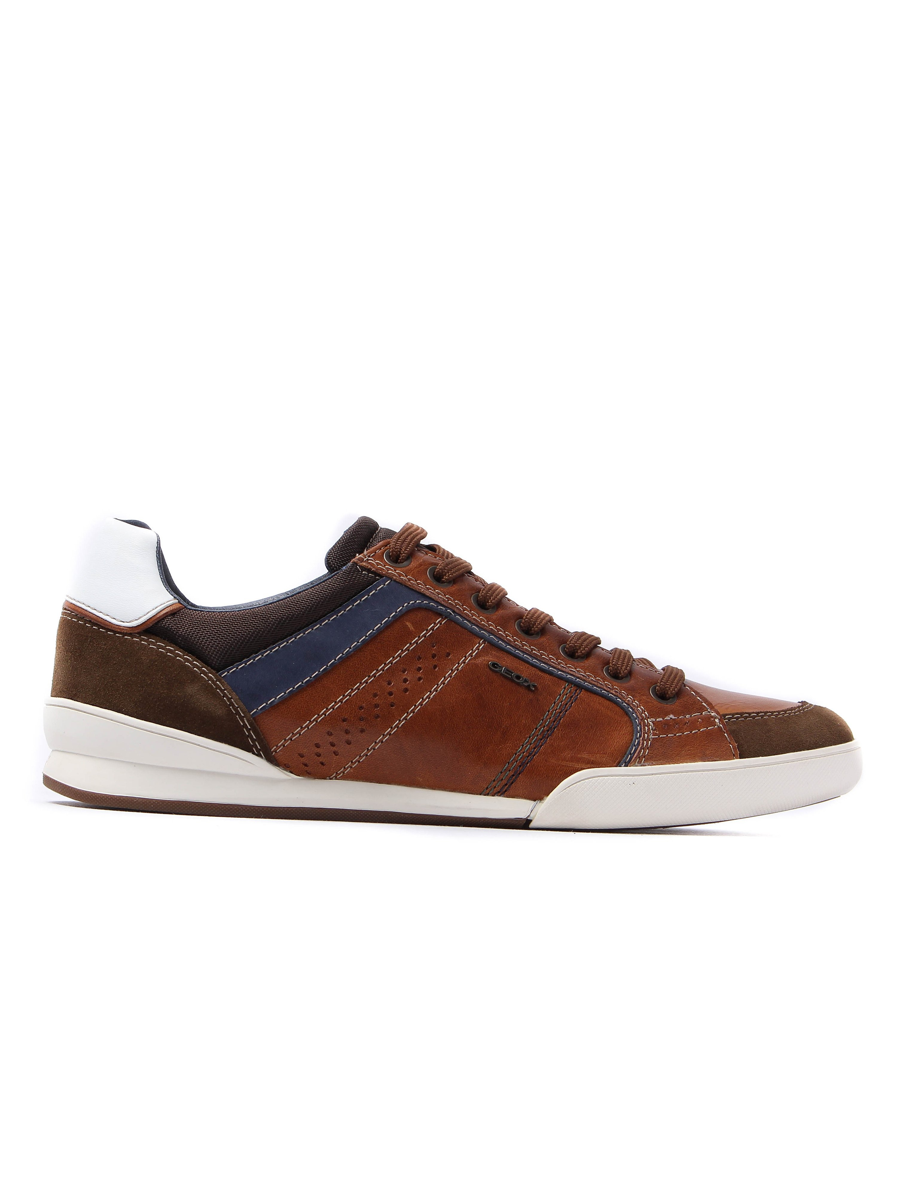 Geox Men's Kristof Pull Up Leather Trainers - Brown
