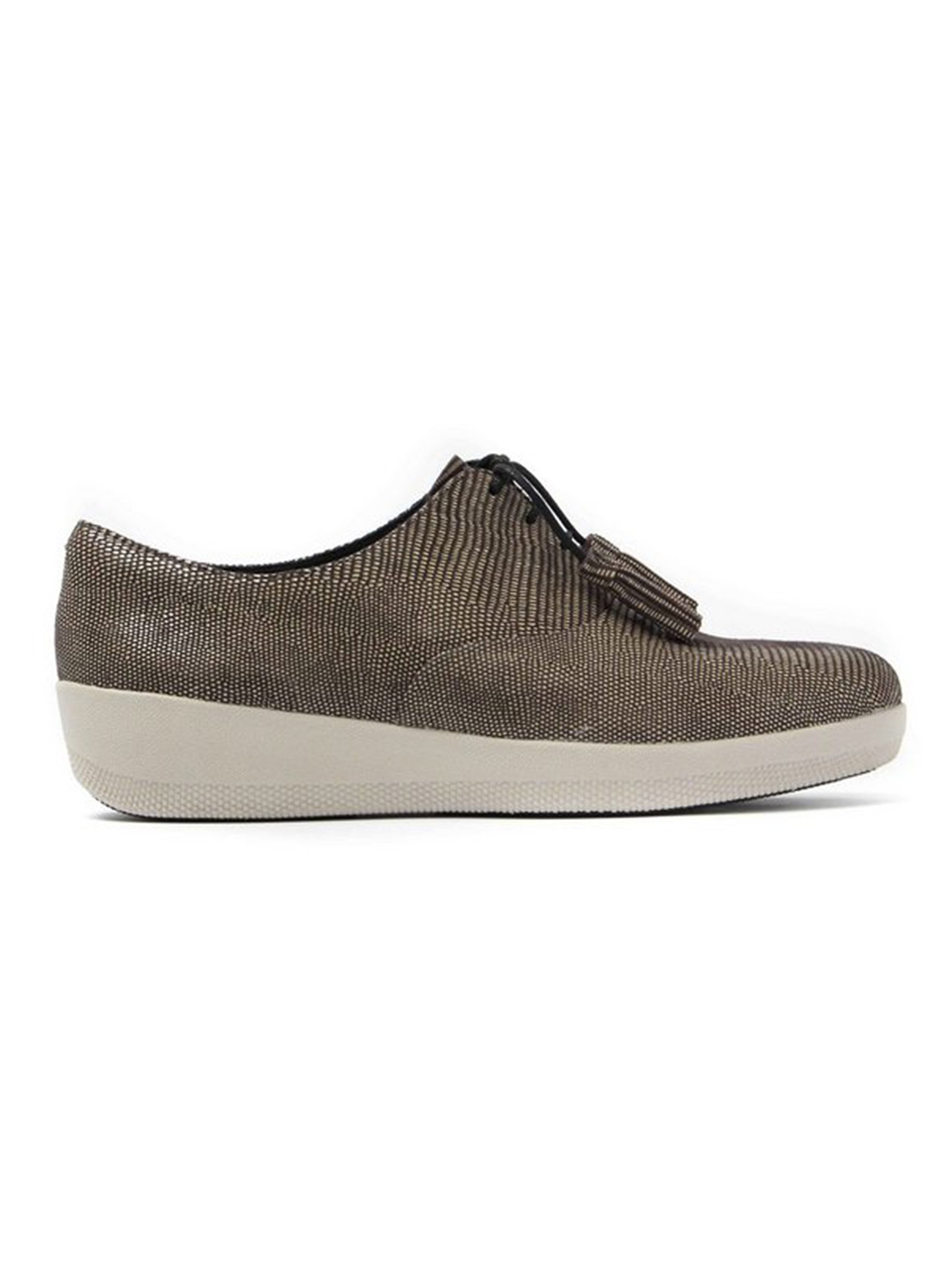 FitFlop Women's Classic Tassel SuperOxford Trainers - Chocolate Brown
