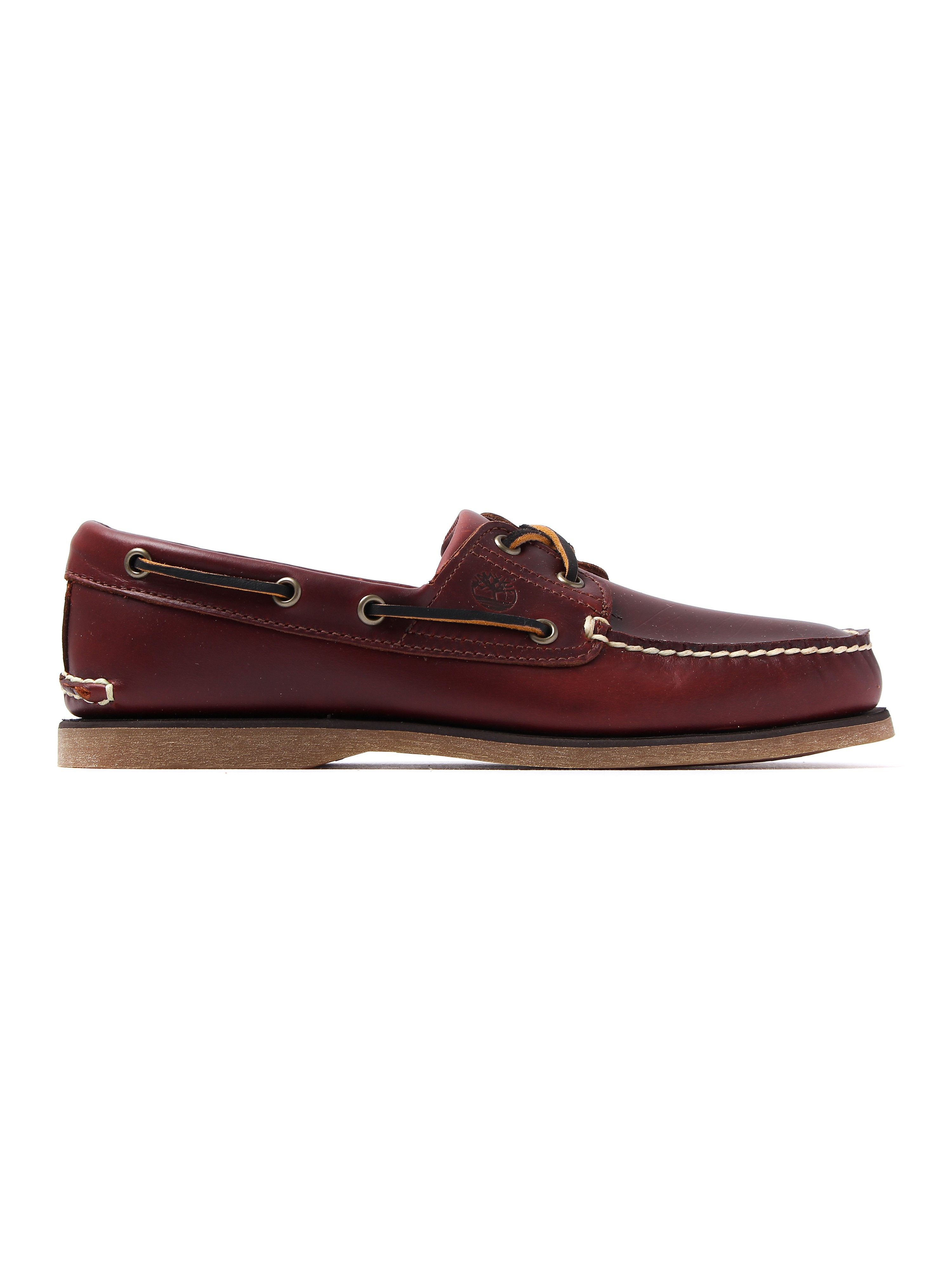 Timberland Men's Rootbeer 2 Eye Boat Shoes - Rootbeer Red