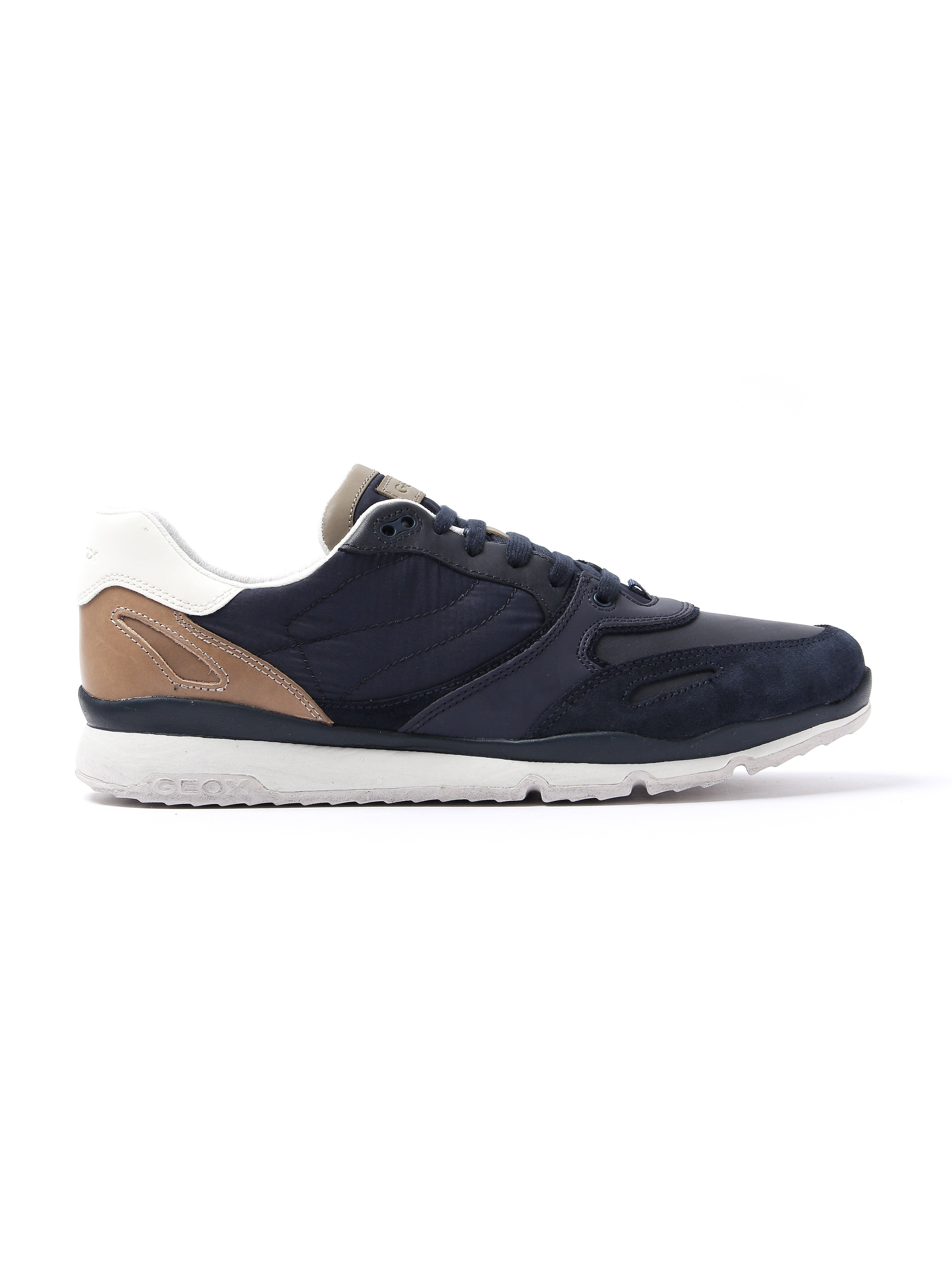 Geox Men's Sandford Suede & Nylon Trainers - Navy