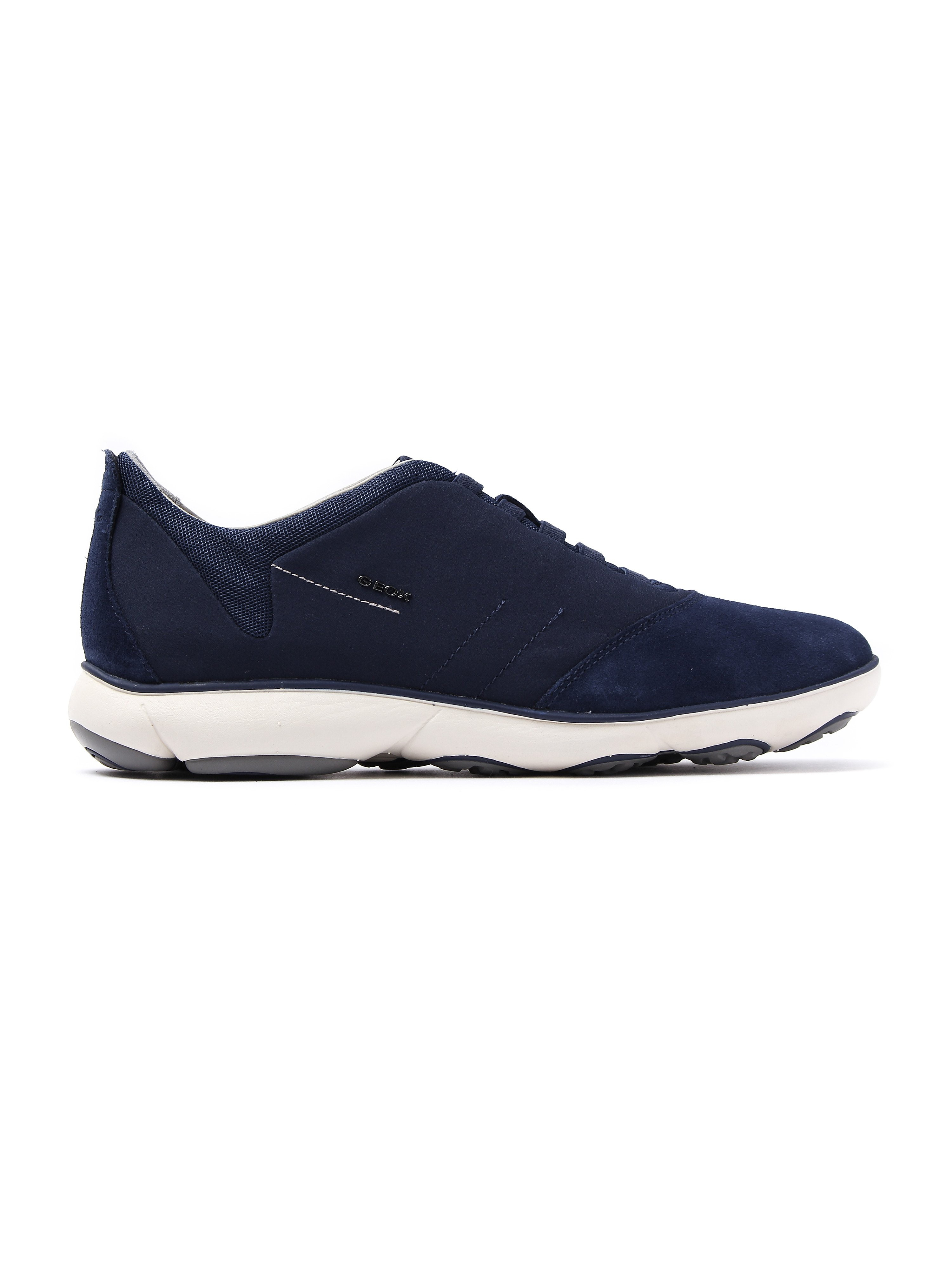 Geox Men's Nebula Textile & Suede Trainers - Navy