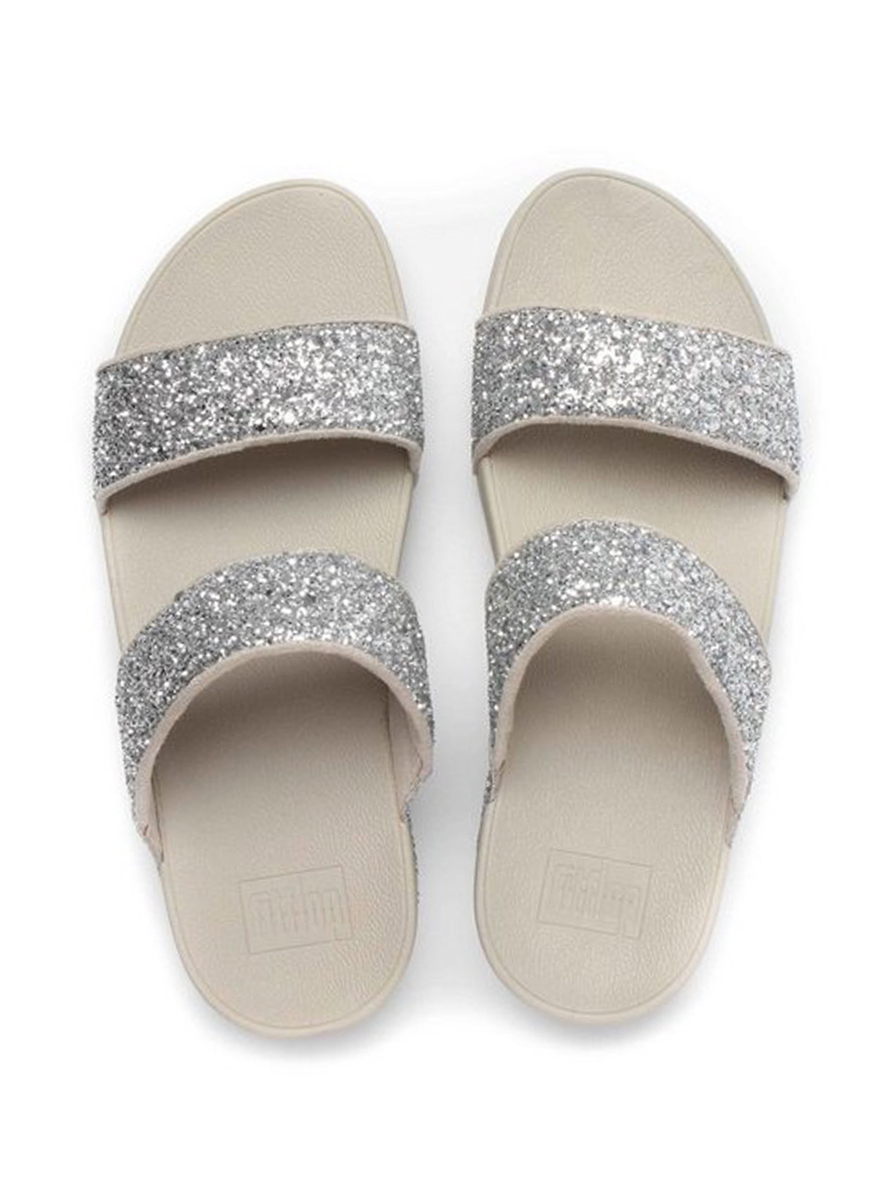 FitFlop Women's Glitterball Slide Sandals - Silver