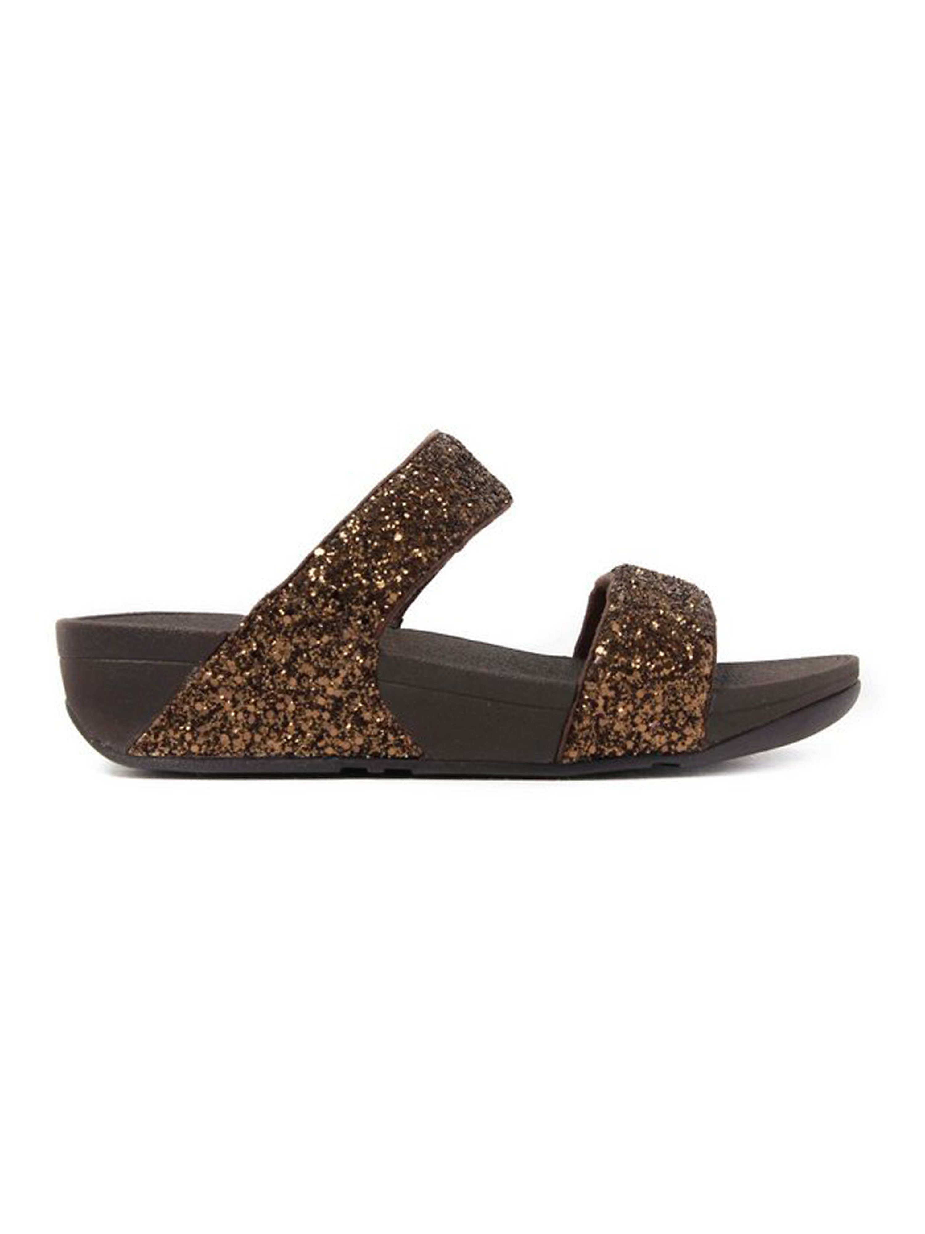 FitFlop Women's Glitterball Slide Sandals Bronze