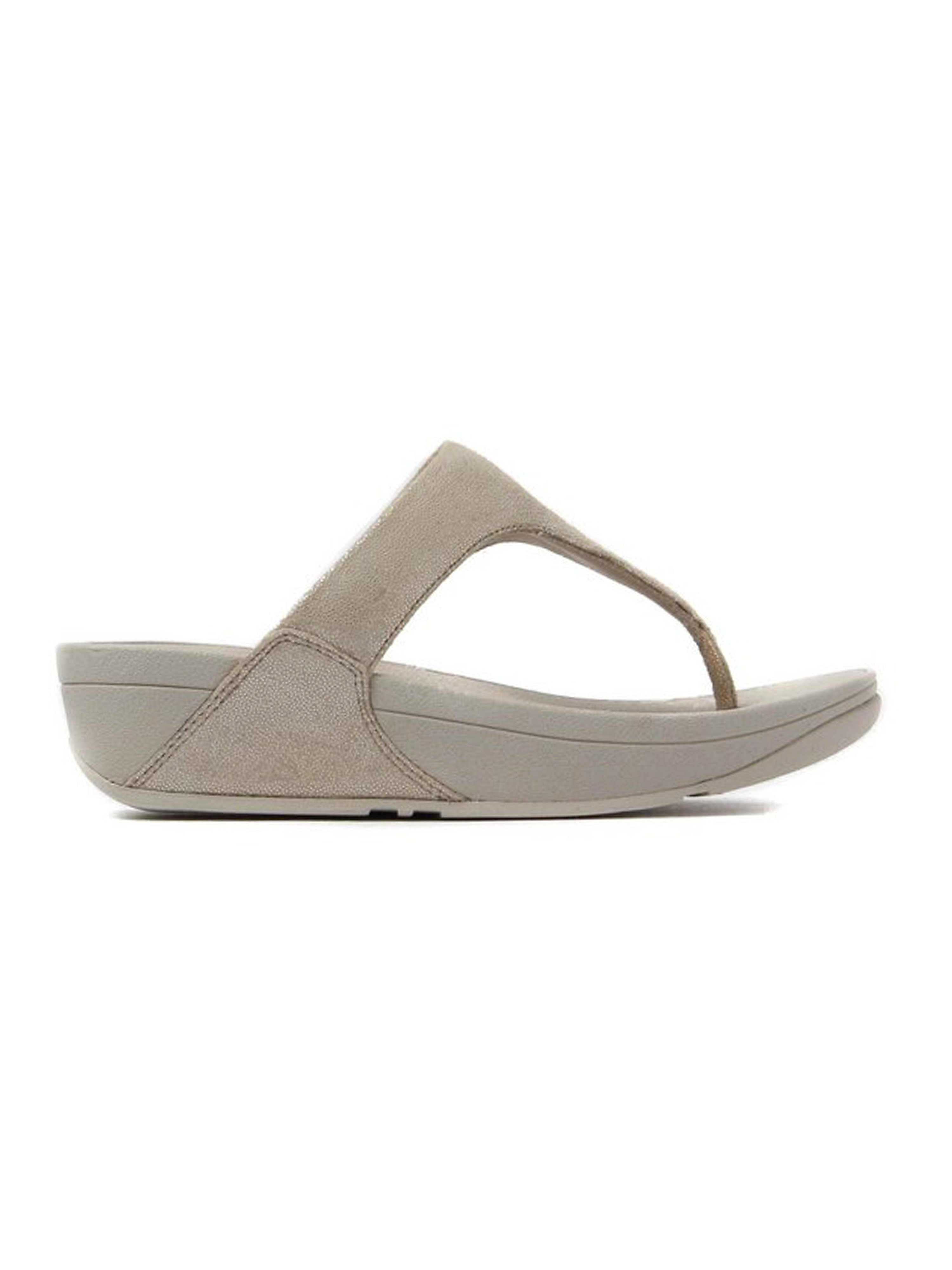 FitFlop Women's Shimmy Suede Toe-Post Sandals Rose Gold