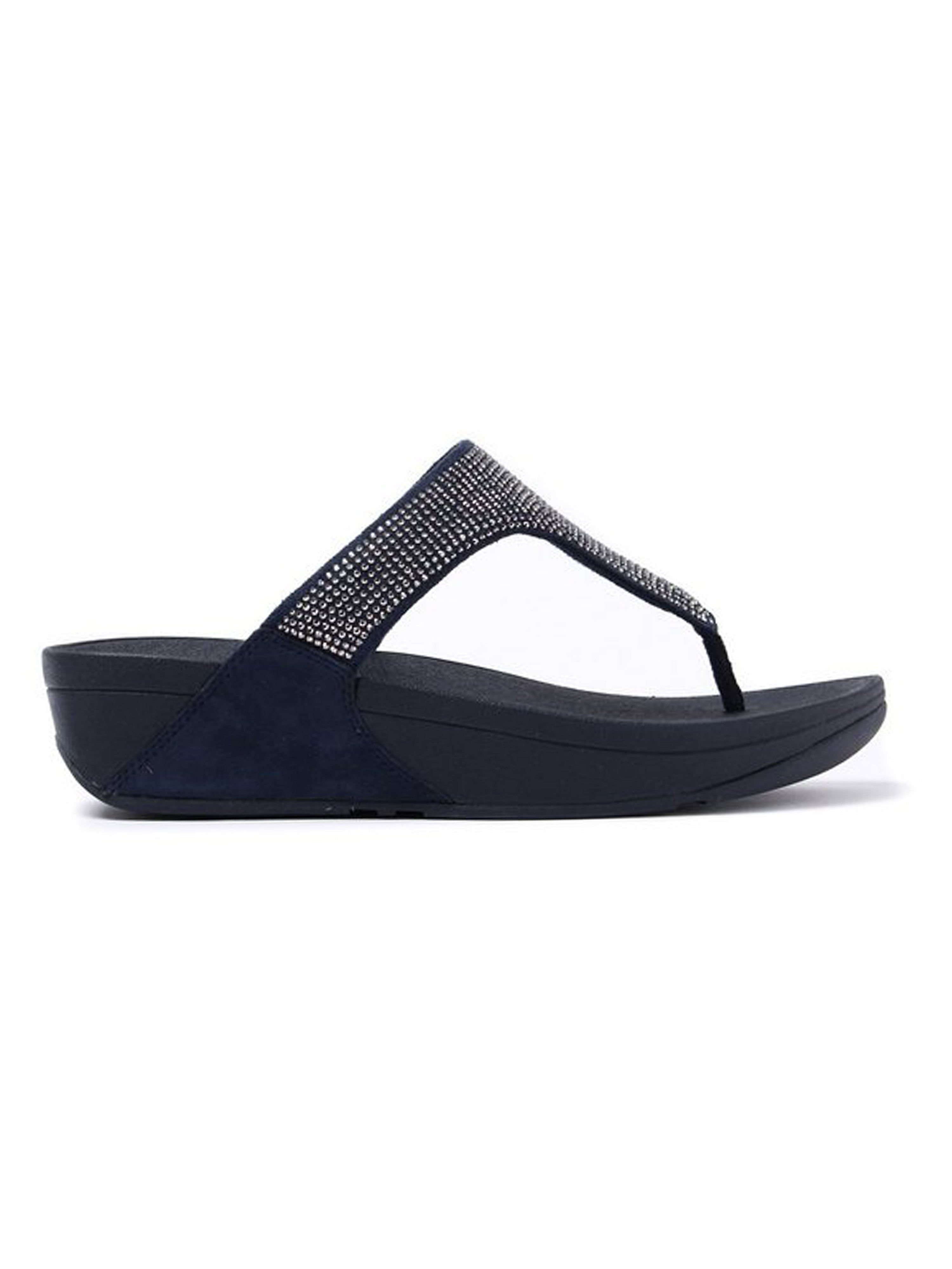 FitFlop Women's Slinky Rokkit Toe-Post Sandals - Super Navy