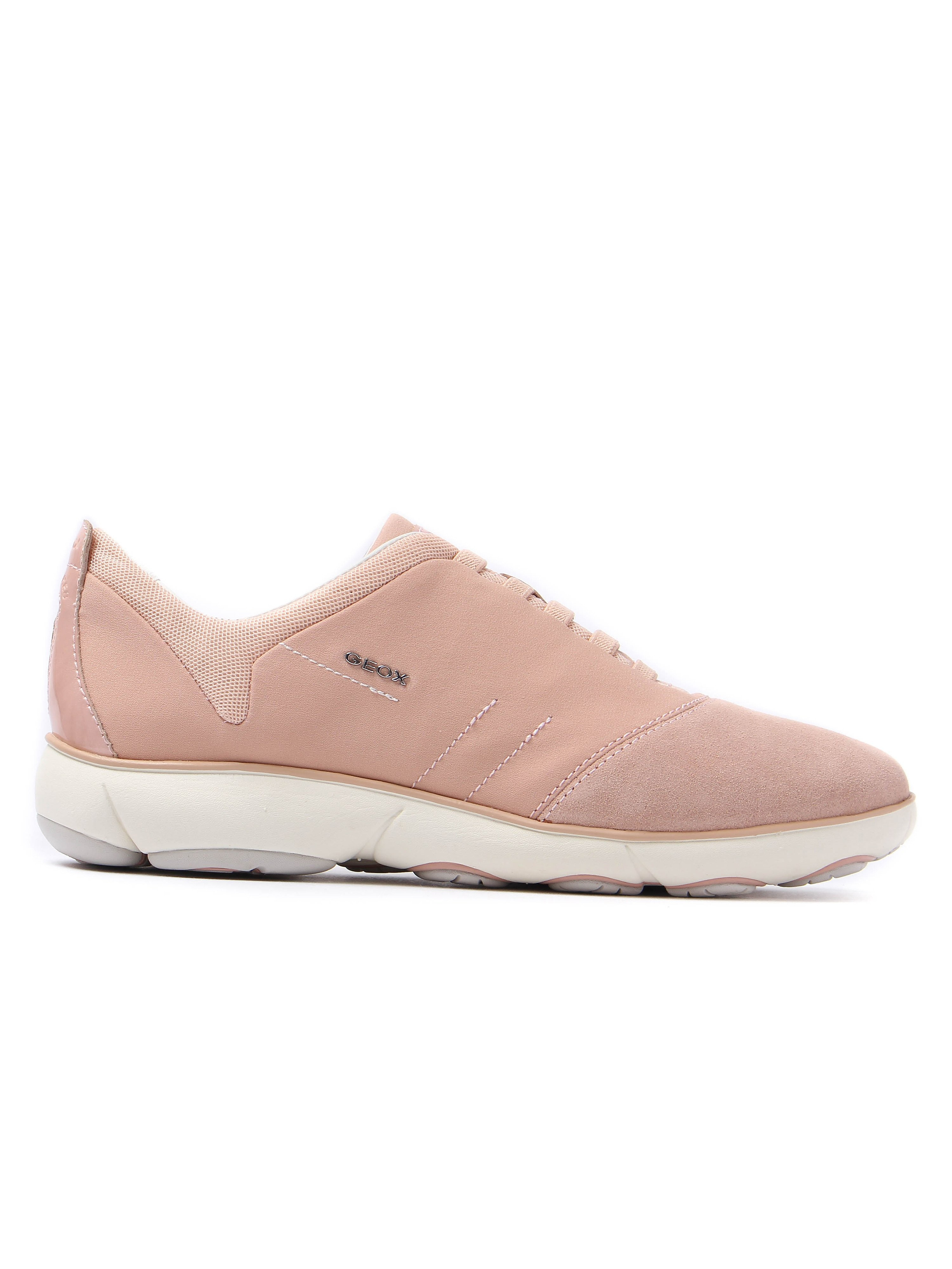 Geox Women's Nebula Textile & Suede Trainers - Light Pink