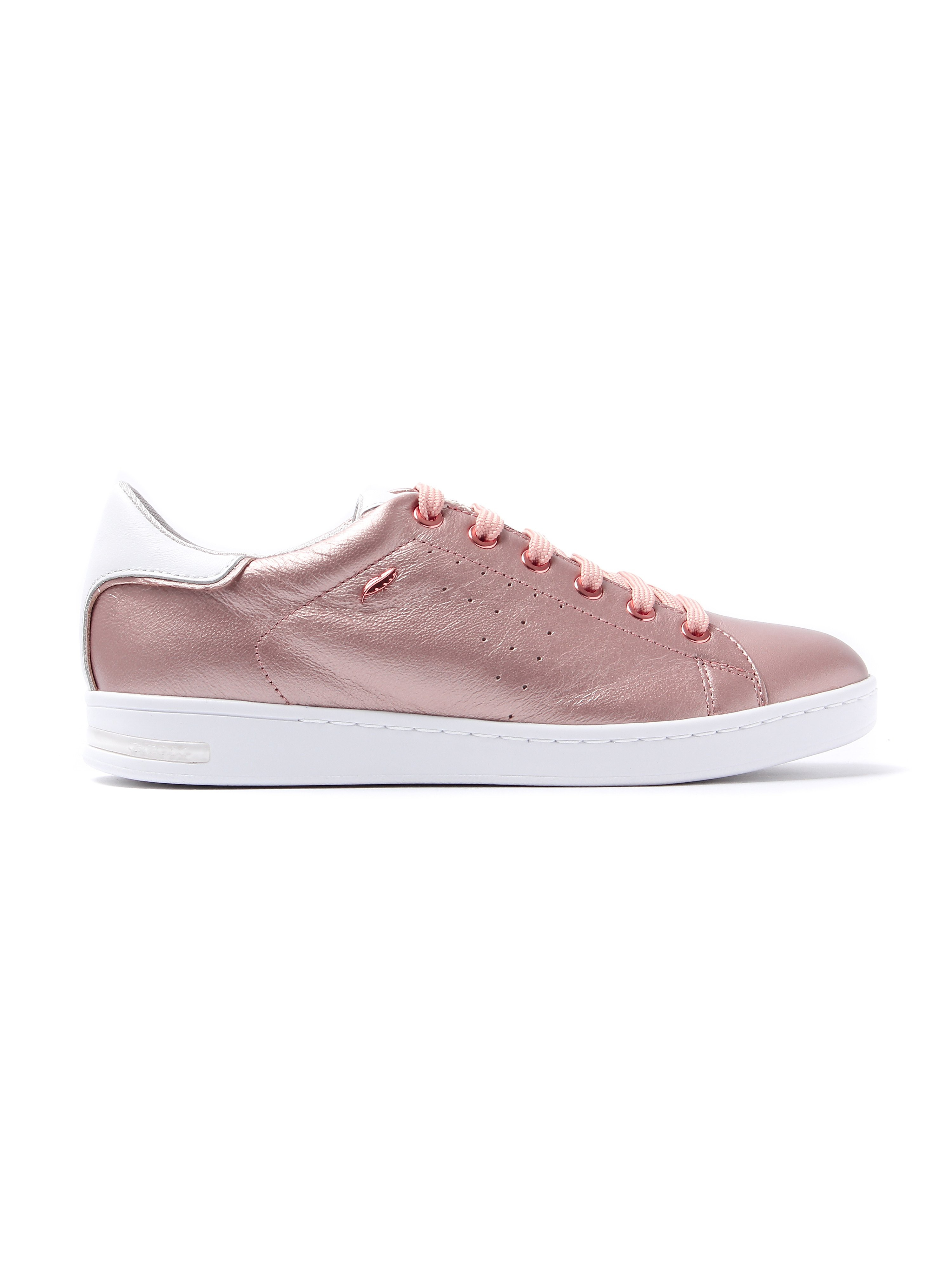 Geox Women's Jaysen Metallic Leather Trainers - Rose Gold