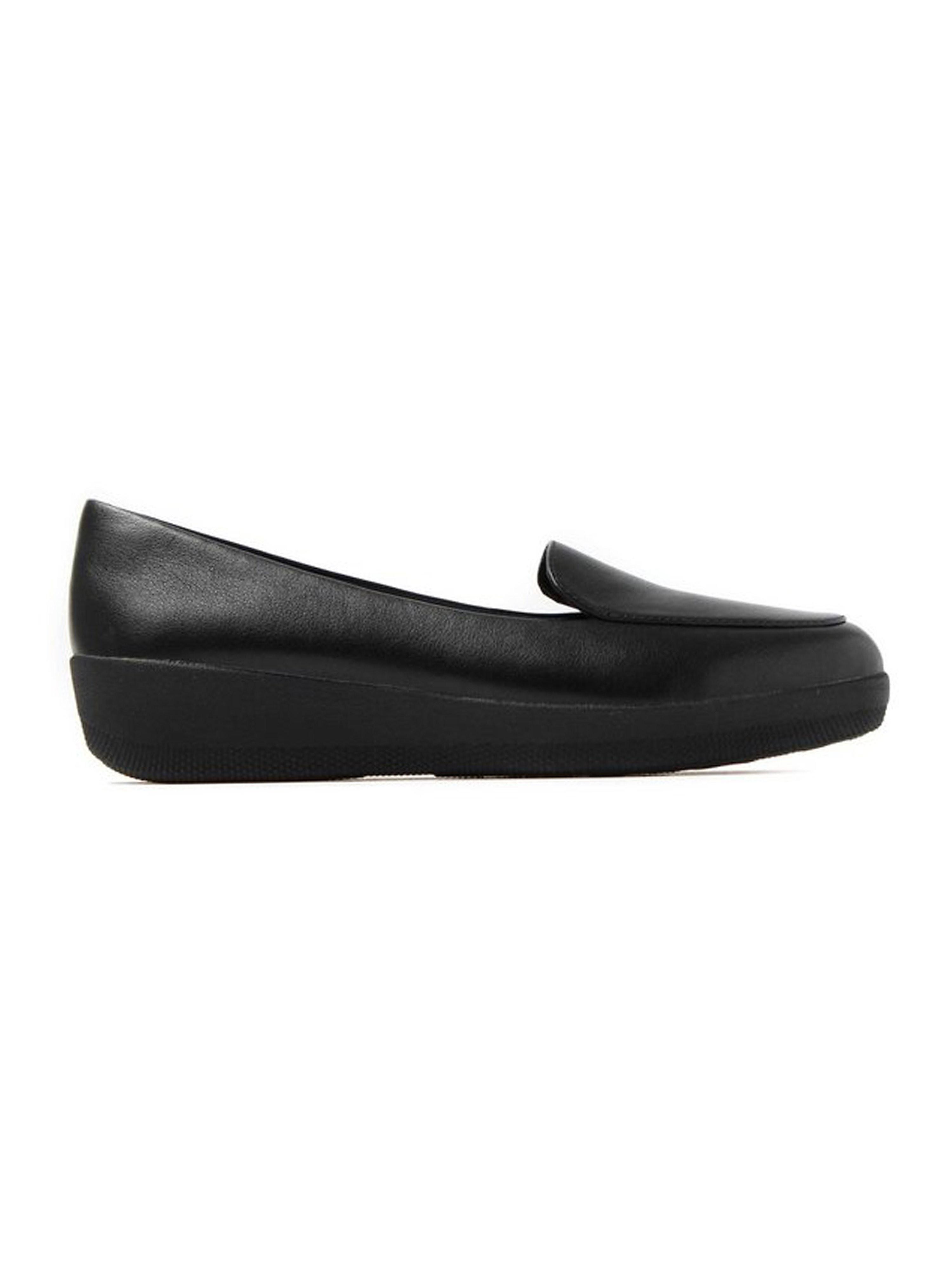 FitFlop Women's Sneaker Loafer – Black Leather