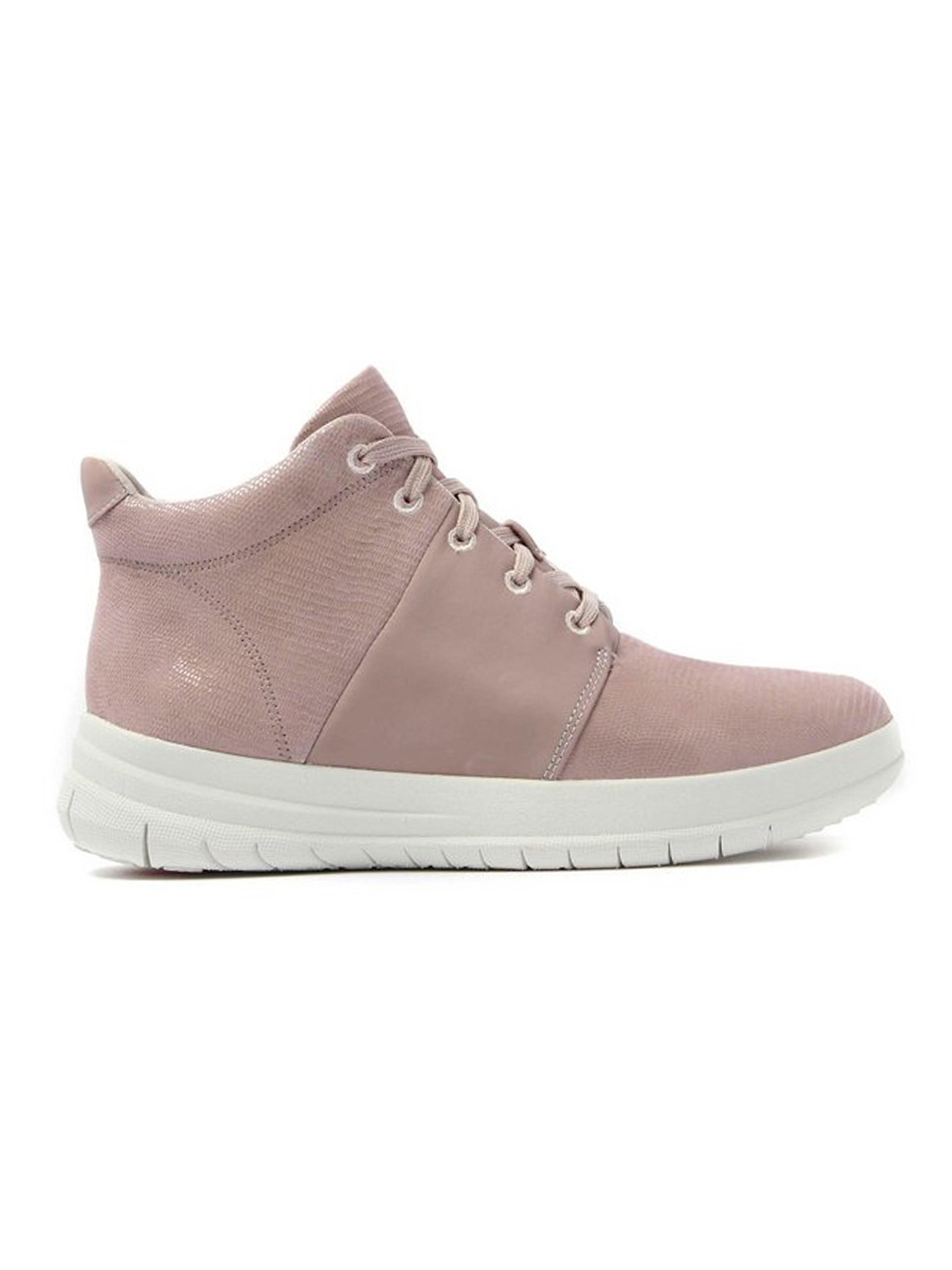 FitFlop Women's Sporty-Pop X Lizard Print High-Top Sneakers - Nude Pink