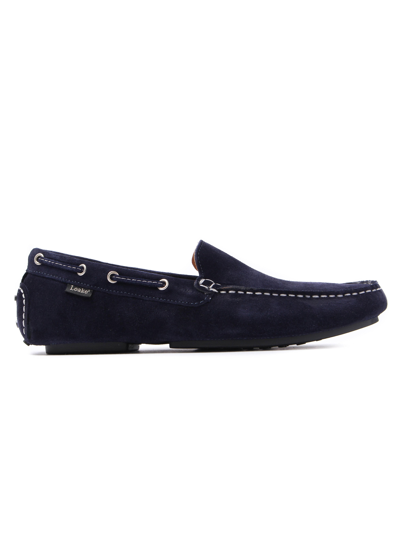 Loake Men's Donington Suede Moccasin Loafers - Navy