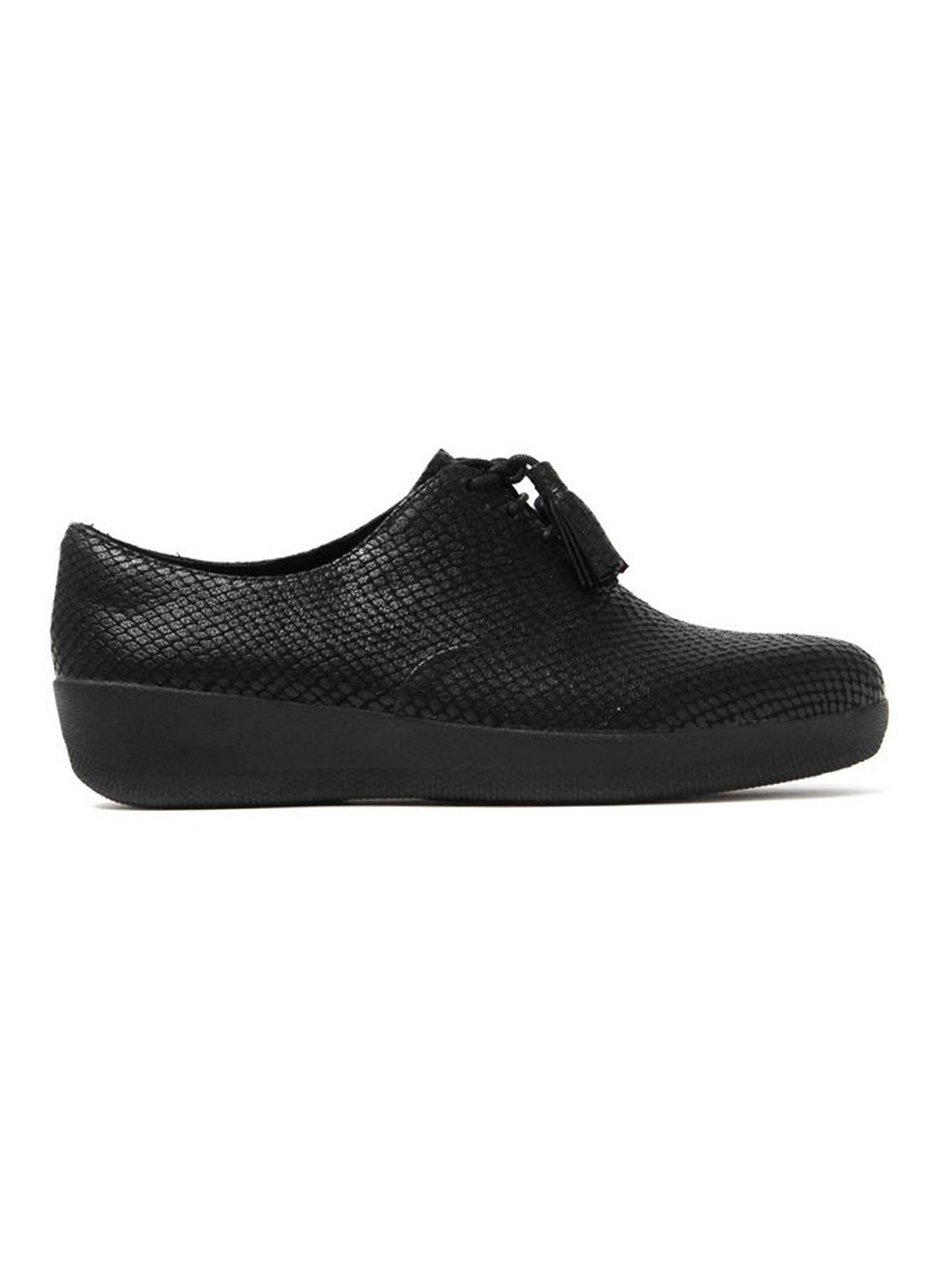 FitFlop Women's Classic Tassel SuperOxford Shoes - Black Snake