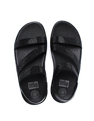 89315ebfce3c ... FitFlop Women s Crystall Z-Strap Sandals - Black