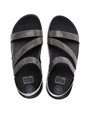 24ab60d7a ... FitFlop Women s Crystall Z-Strap Sandals - Pewter