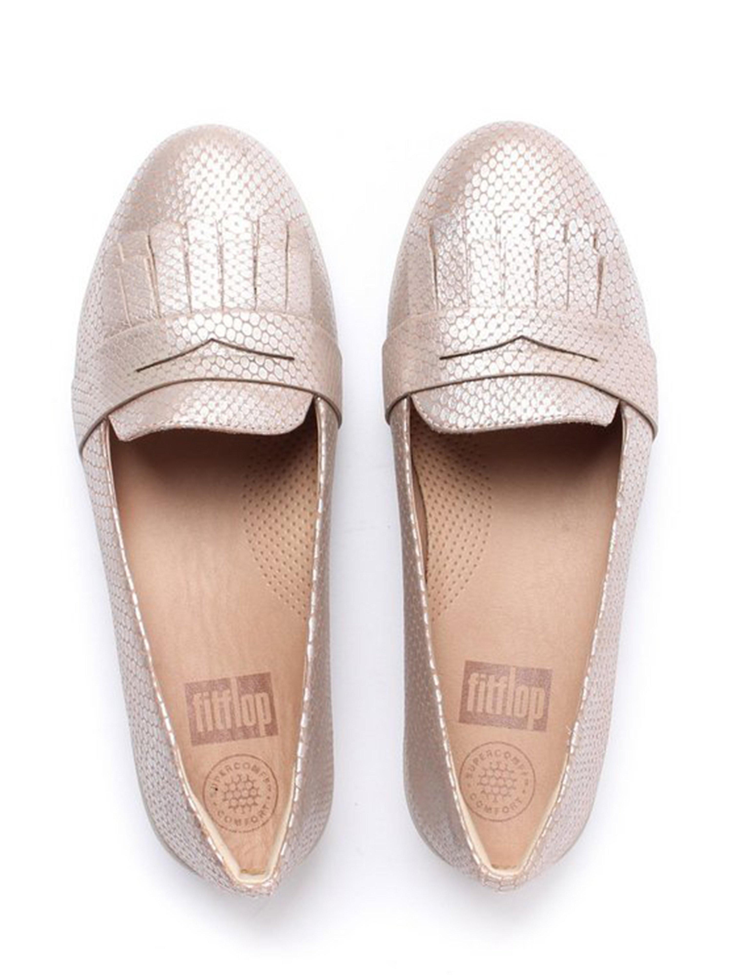 FitFlop Women's Fringey Sneaker Loafers - Silver Snake