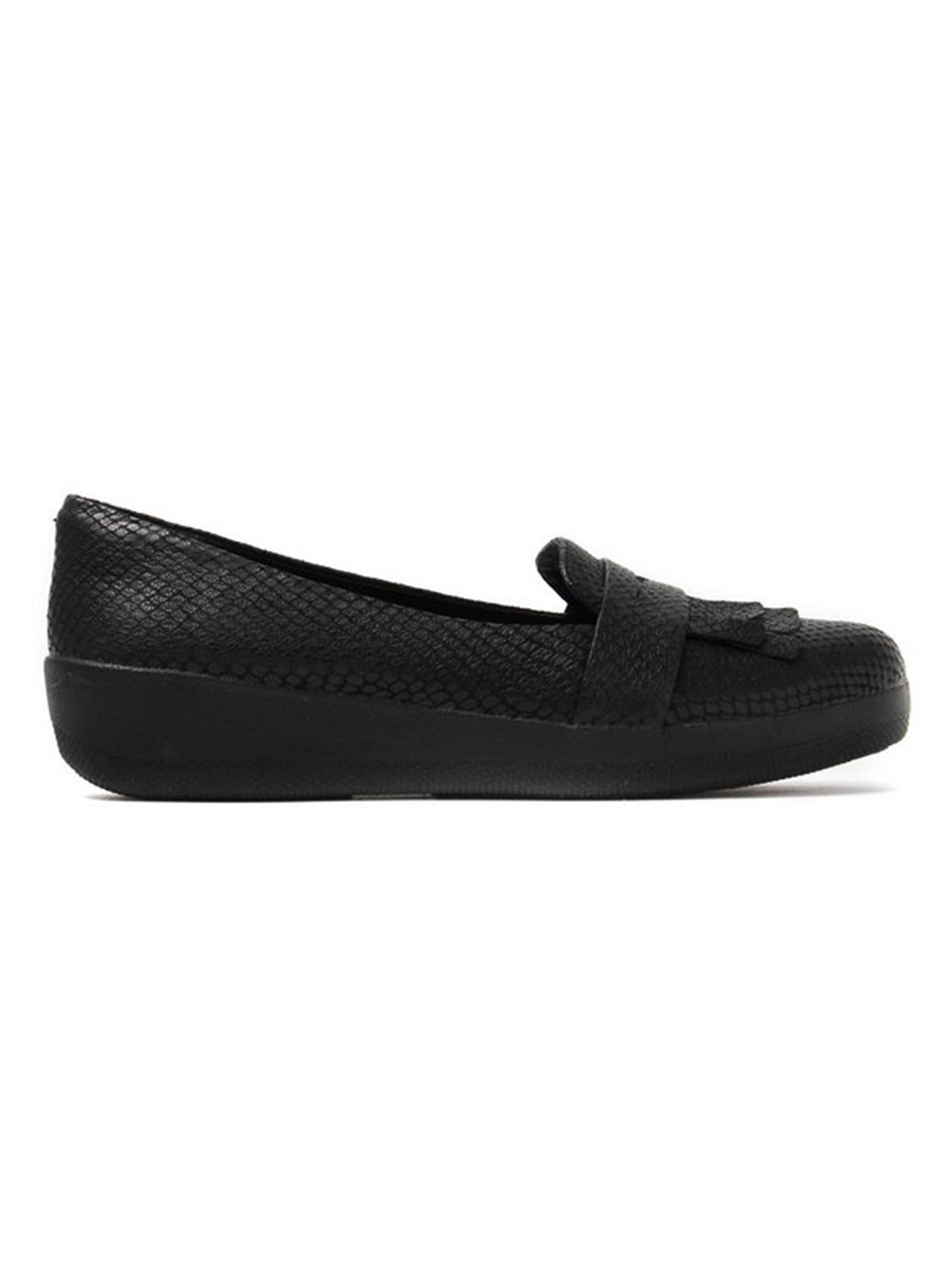 FitFlop Women's Fringey Sneaker Loafers - Black Snake