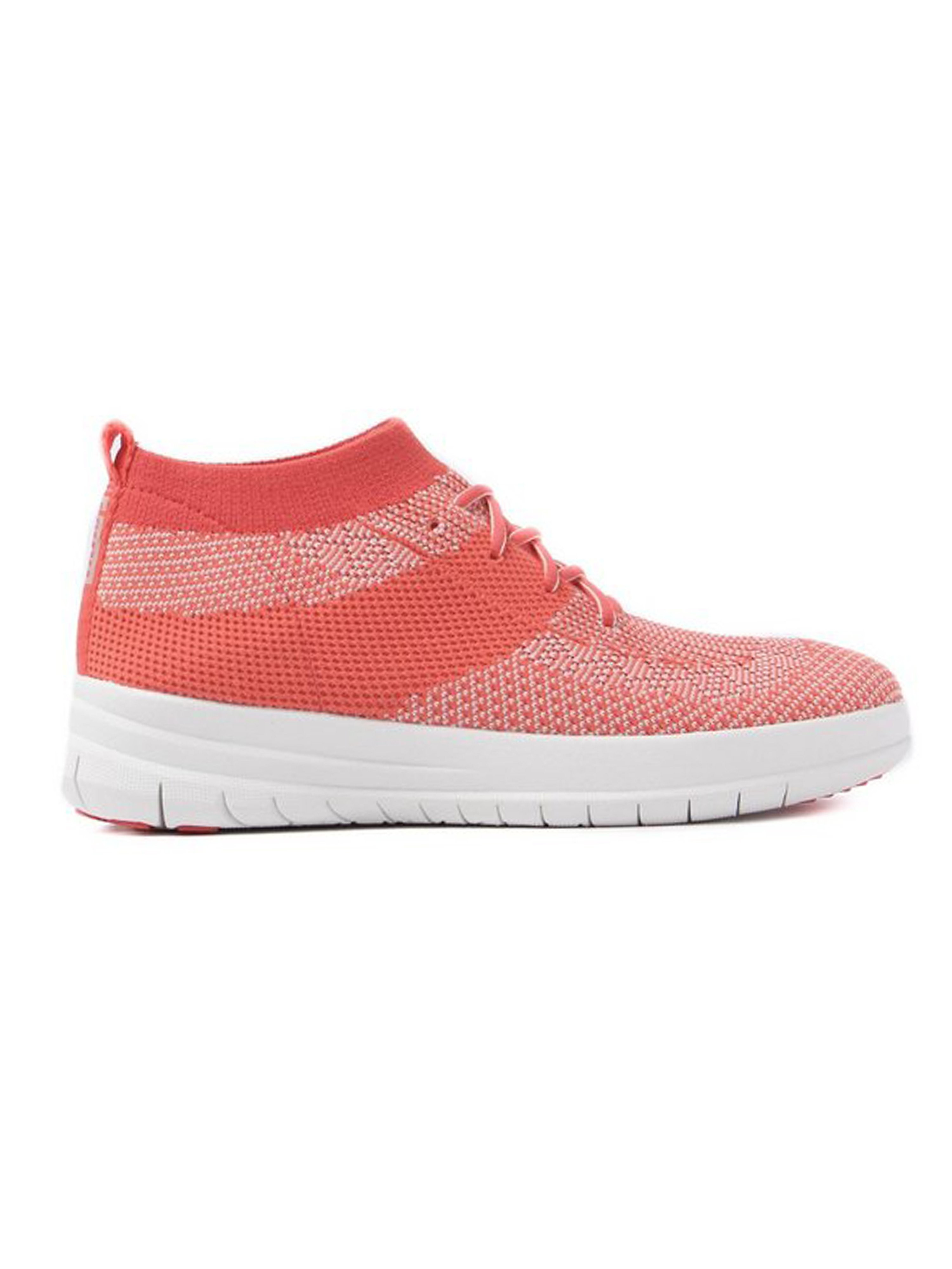 FitFlop Women's Überknit Slip-On High Top Trainers - Hot Coral & Neon Blush