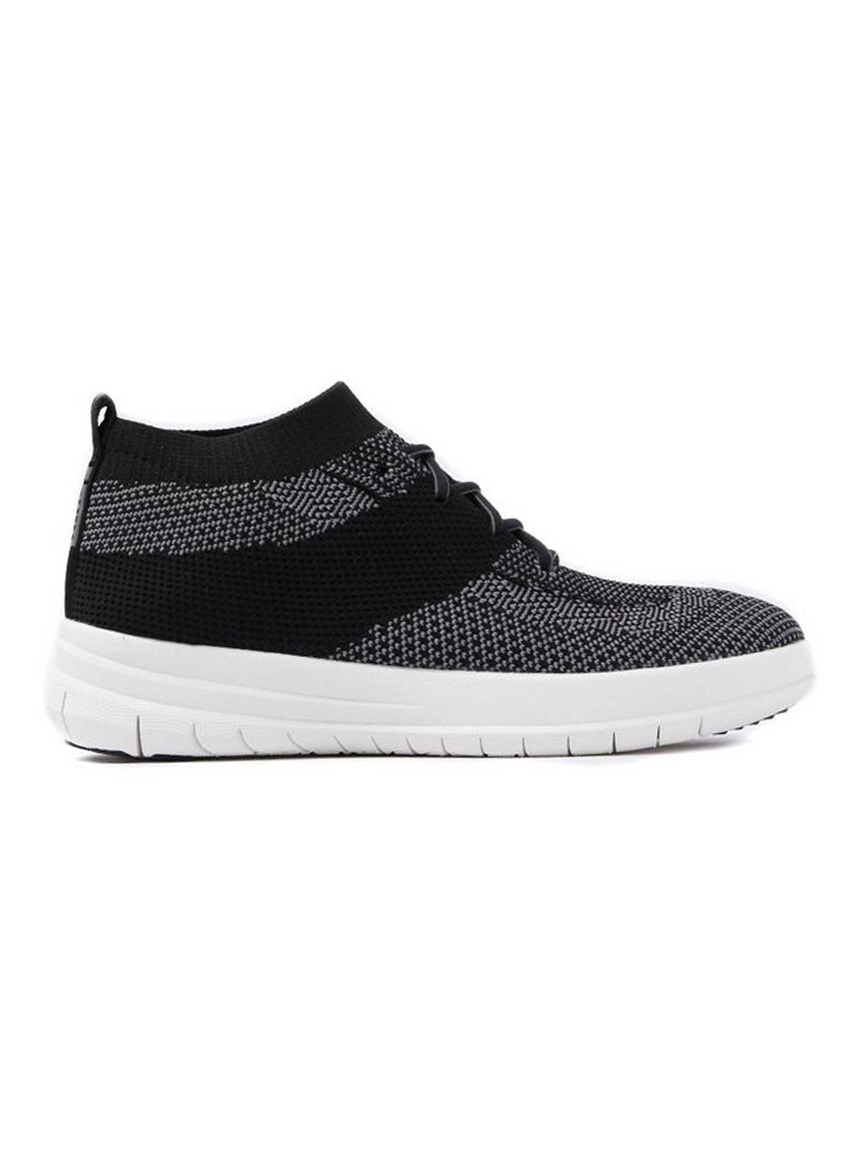 FitFlop Women's Überknit Slip-On High Top Trainers - Black & Charcoal