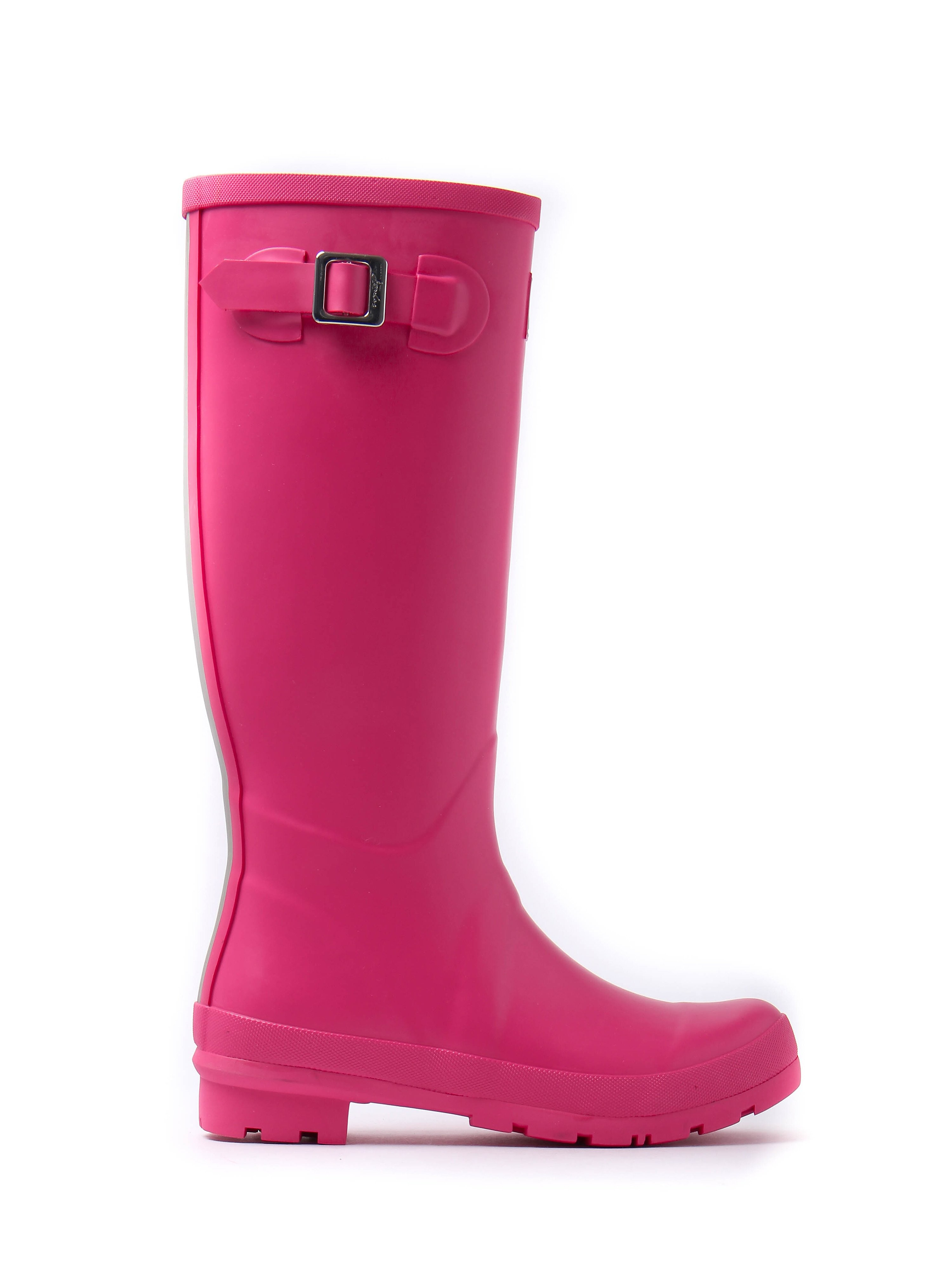 Joules Women's Full Height Rubber Wellington Boots - Pink