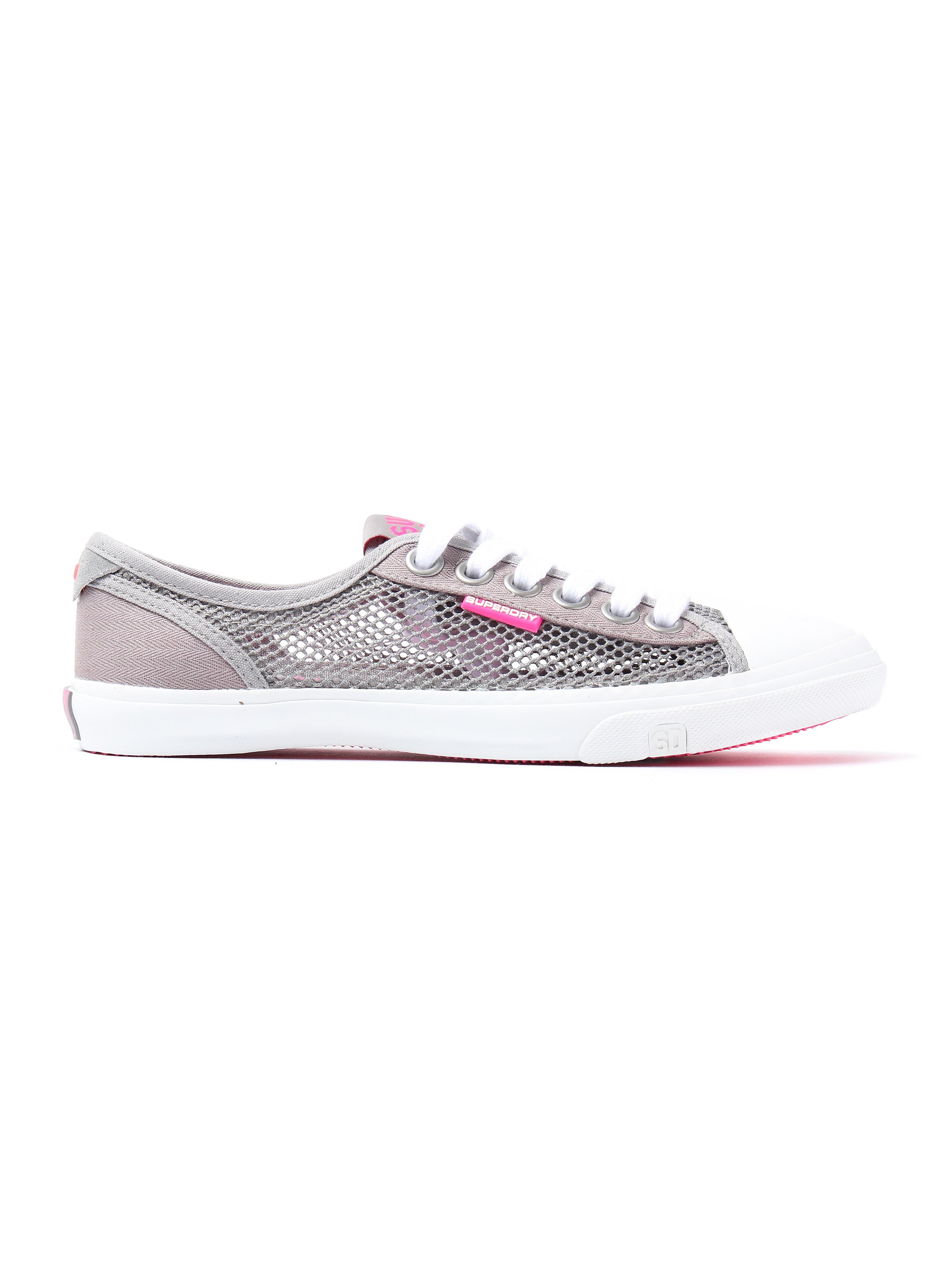 Superdry Women's Low Pro Mesh & Canvas Trainers - Mid Grey
