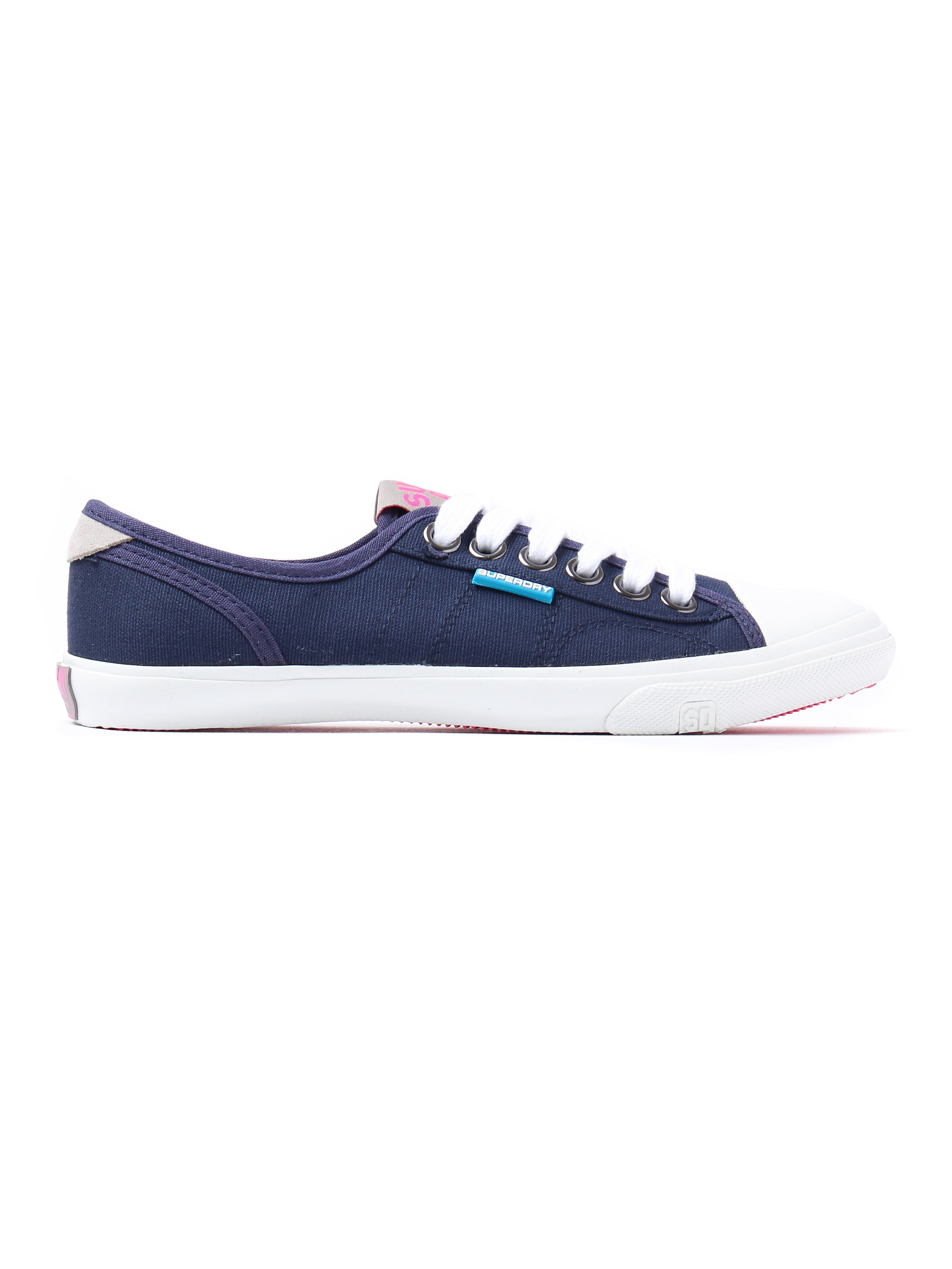 Superdry Women's Low Pro Lace Up Canvas Trainers - Deep Indigo