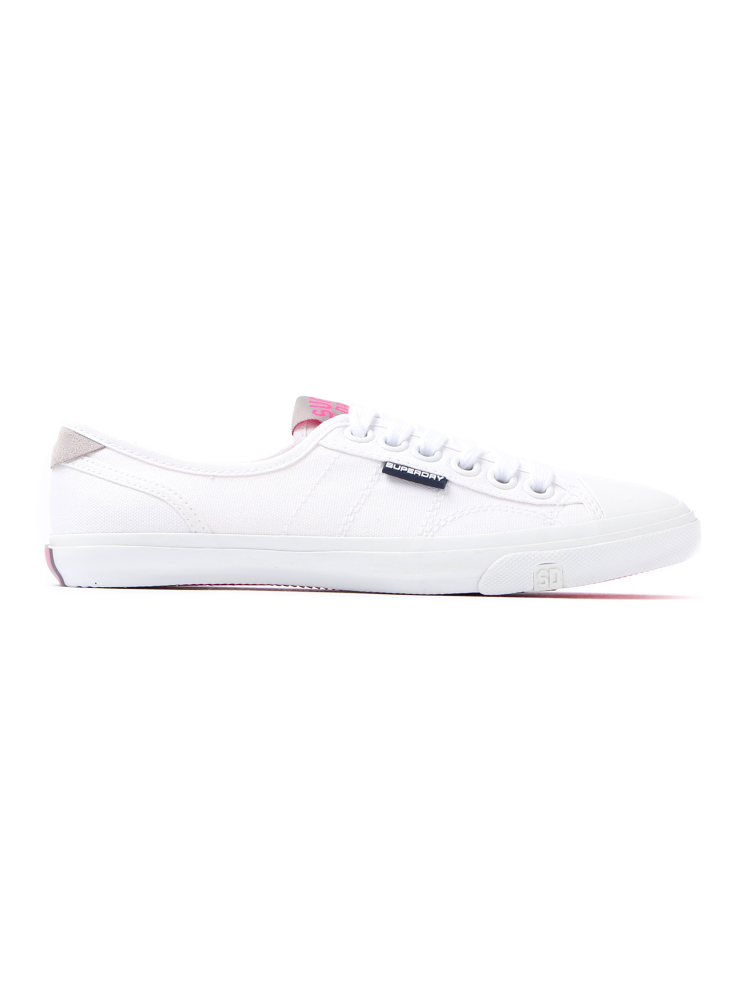 Superdry Women's Low Pro Lace Up Canvas Trainers - White