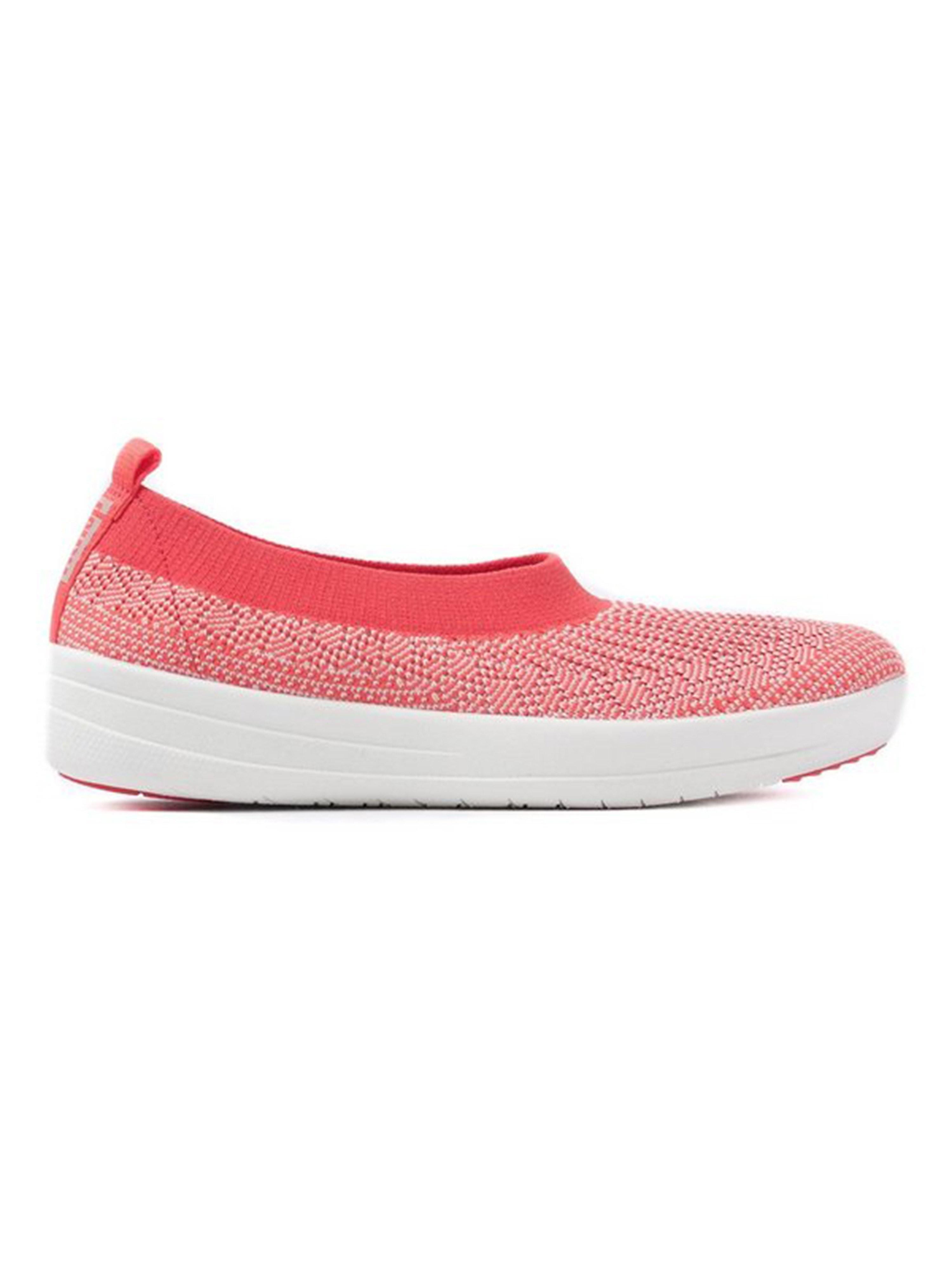 FitFlop Women's Überknit Slip-On Ballerinas - Hot Coral & Neon Blush