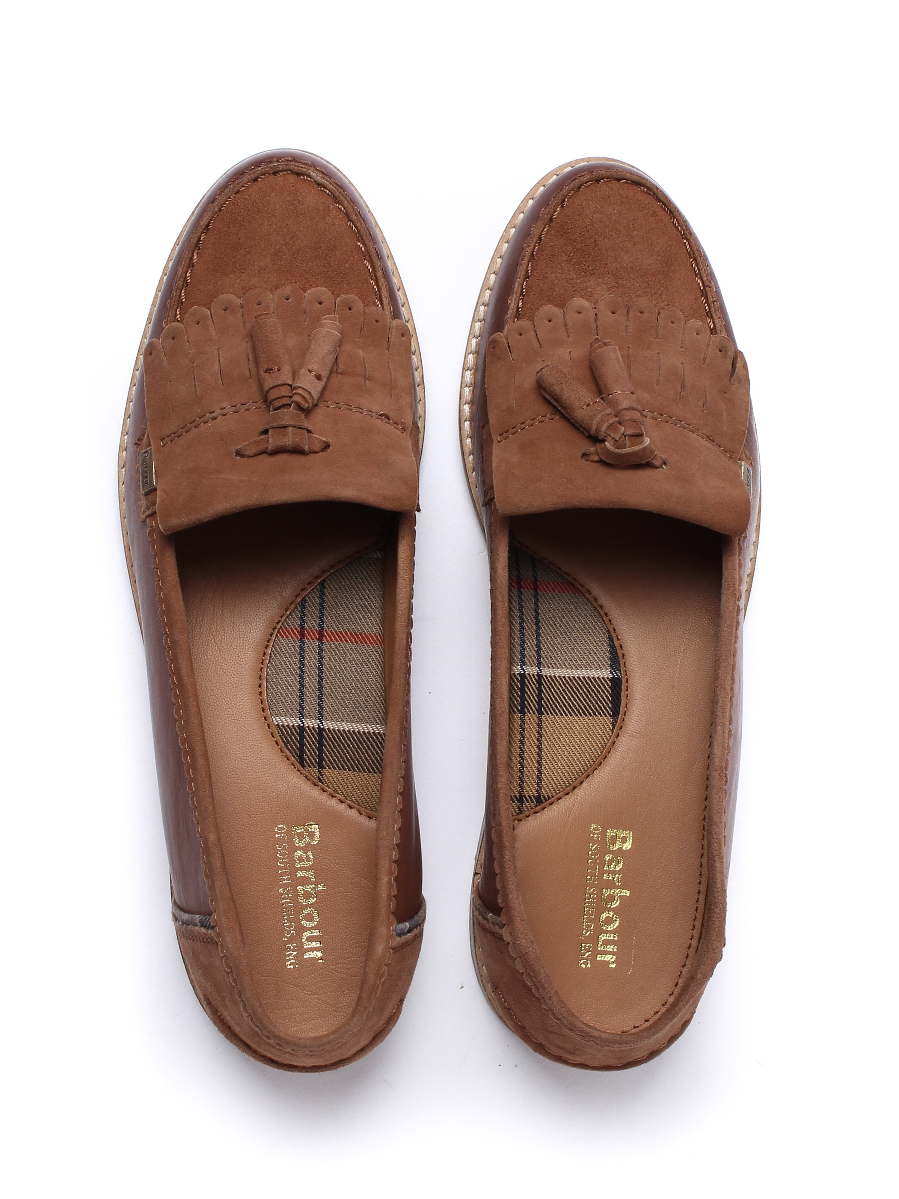 Barbour Women's Naomi Leather & Suede Loafers - Chestnut