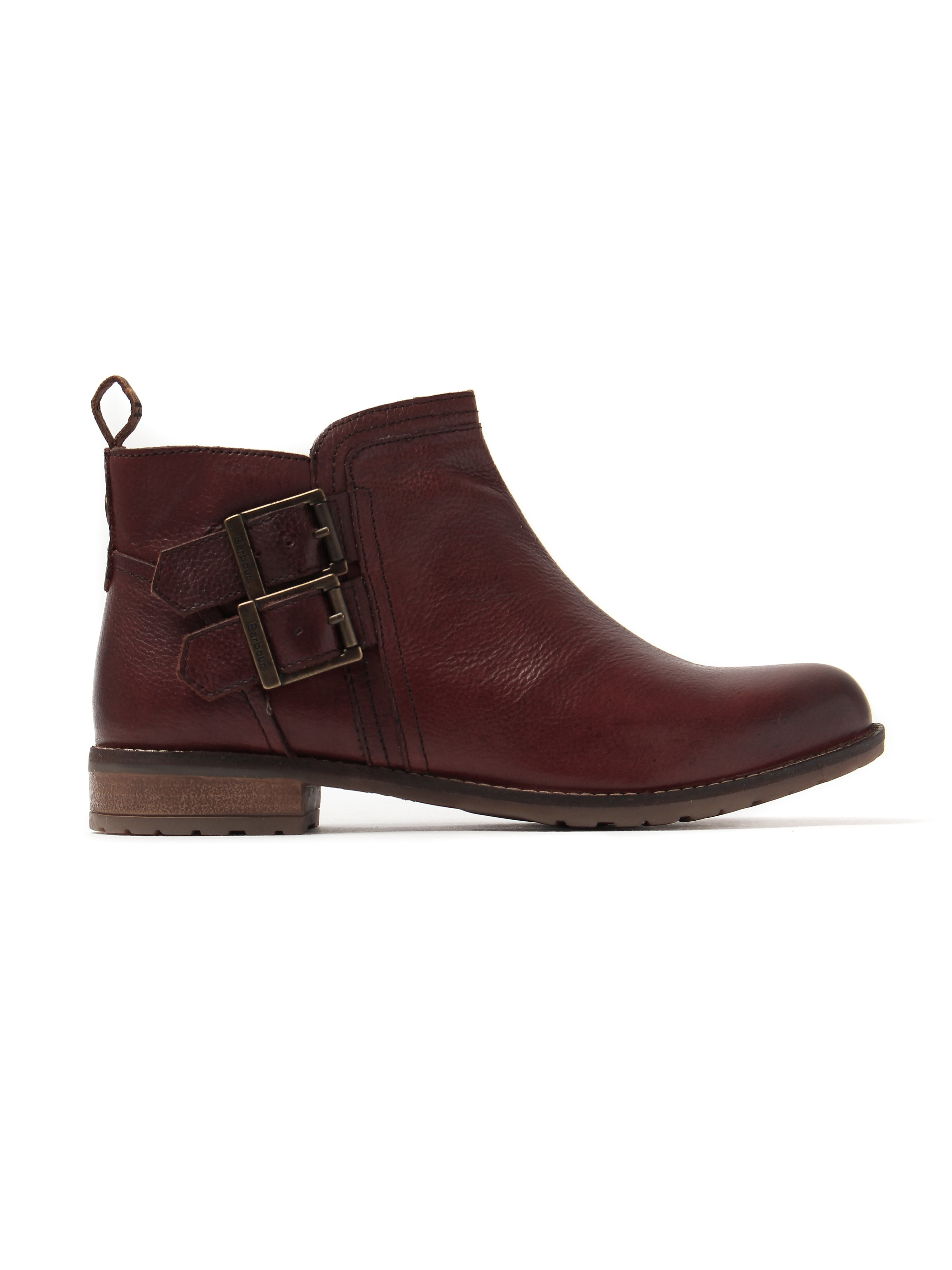Barbour Women's Sarah Low Buckle Leather Ankle Boots - Chestnut
