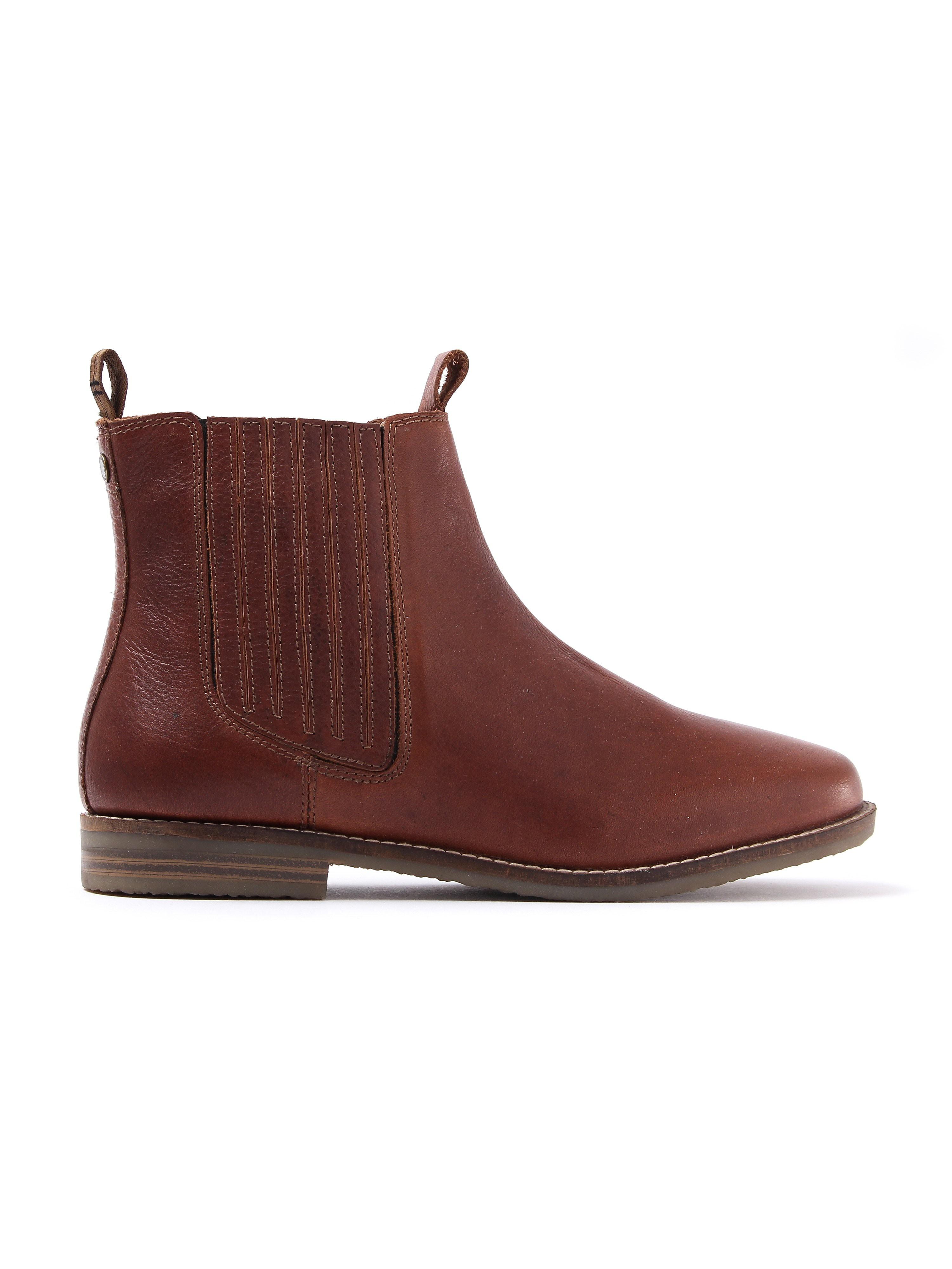 Barbour Women's Jamie Leather Chelsea Boots - Chestnut
