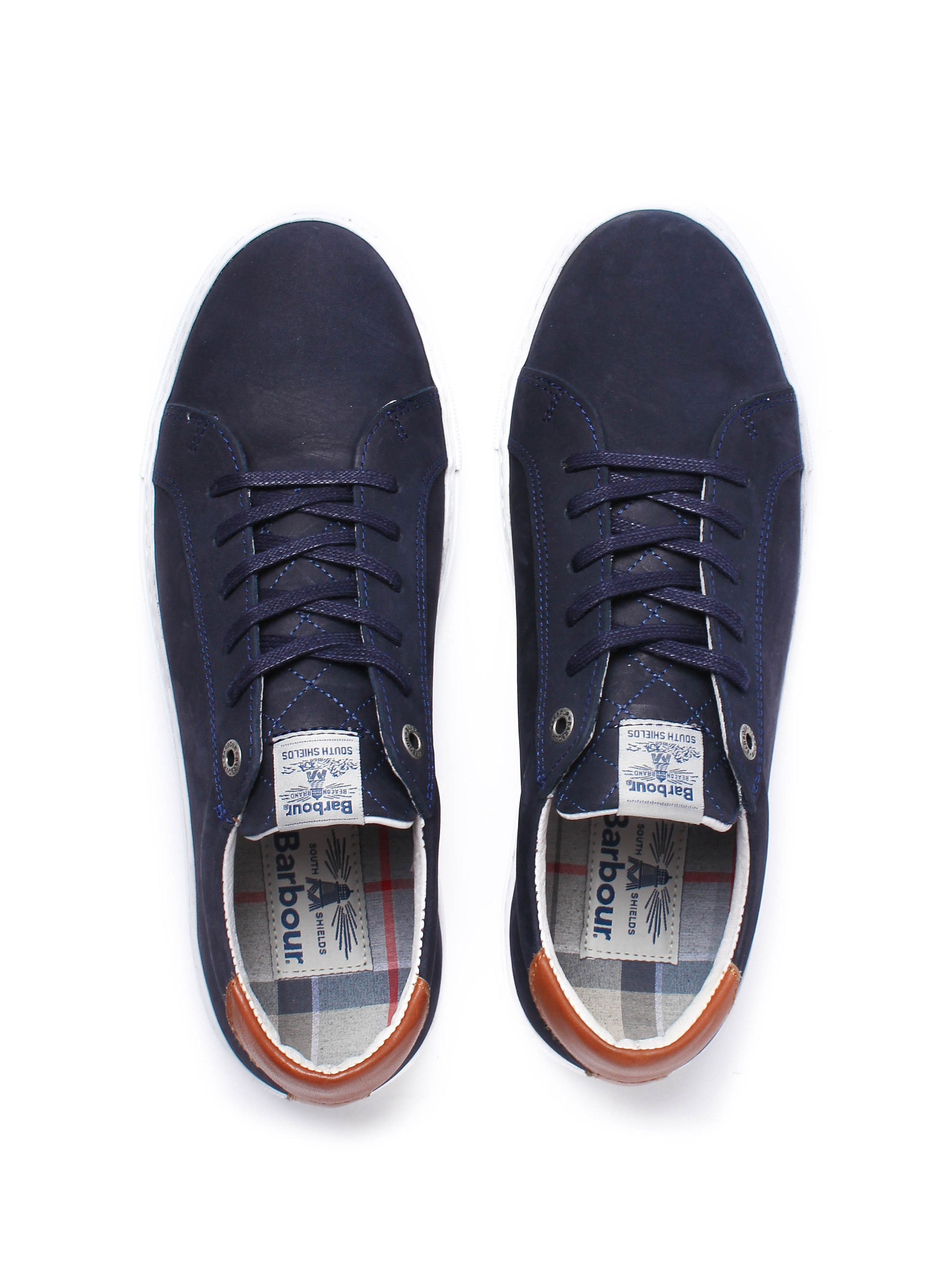 Barbour Women's Natalie Cupsole Trainers - Navy Nubuck