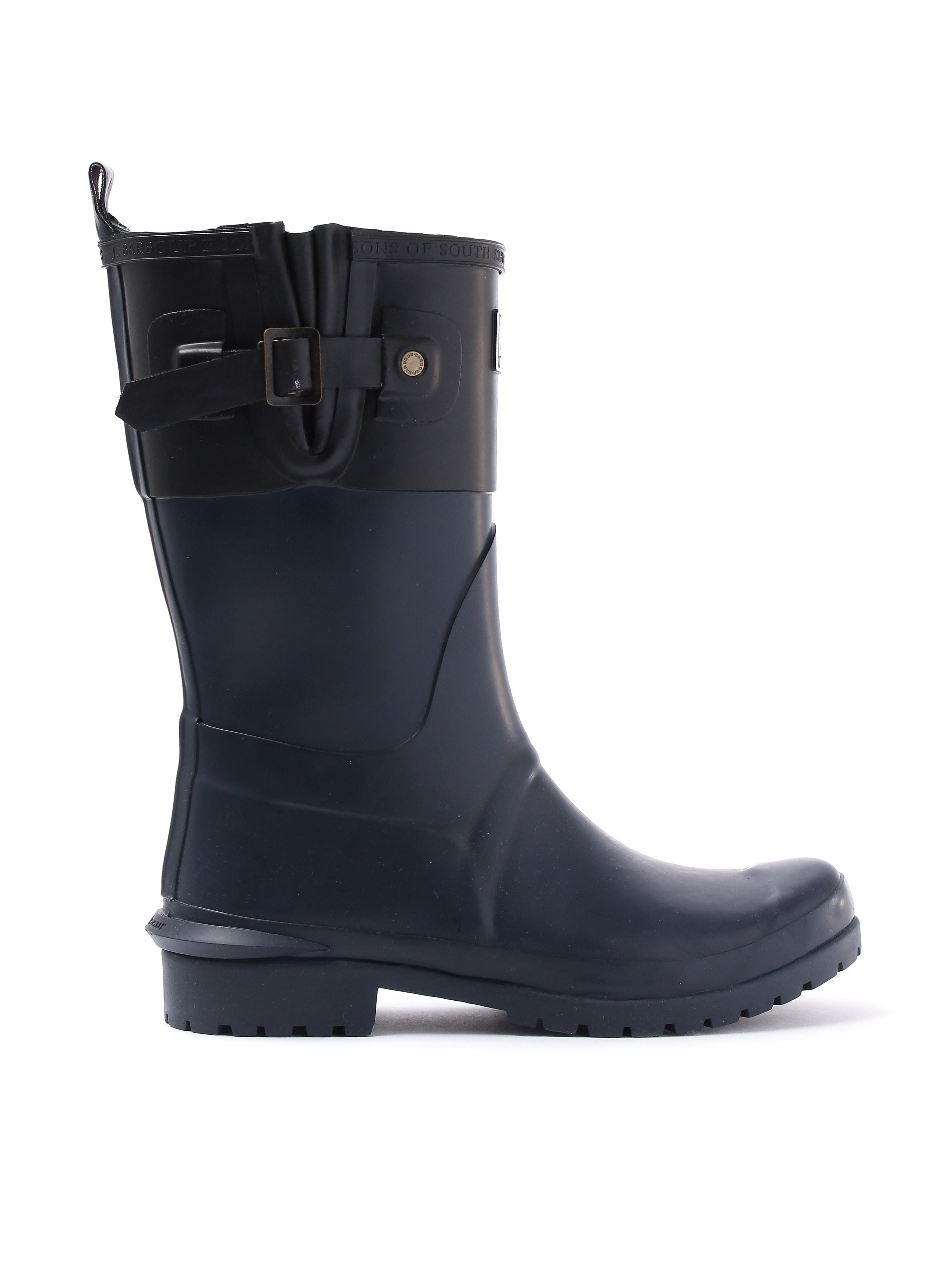 Barbour Women's Short Colour Block Welly - Navy