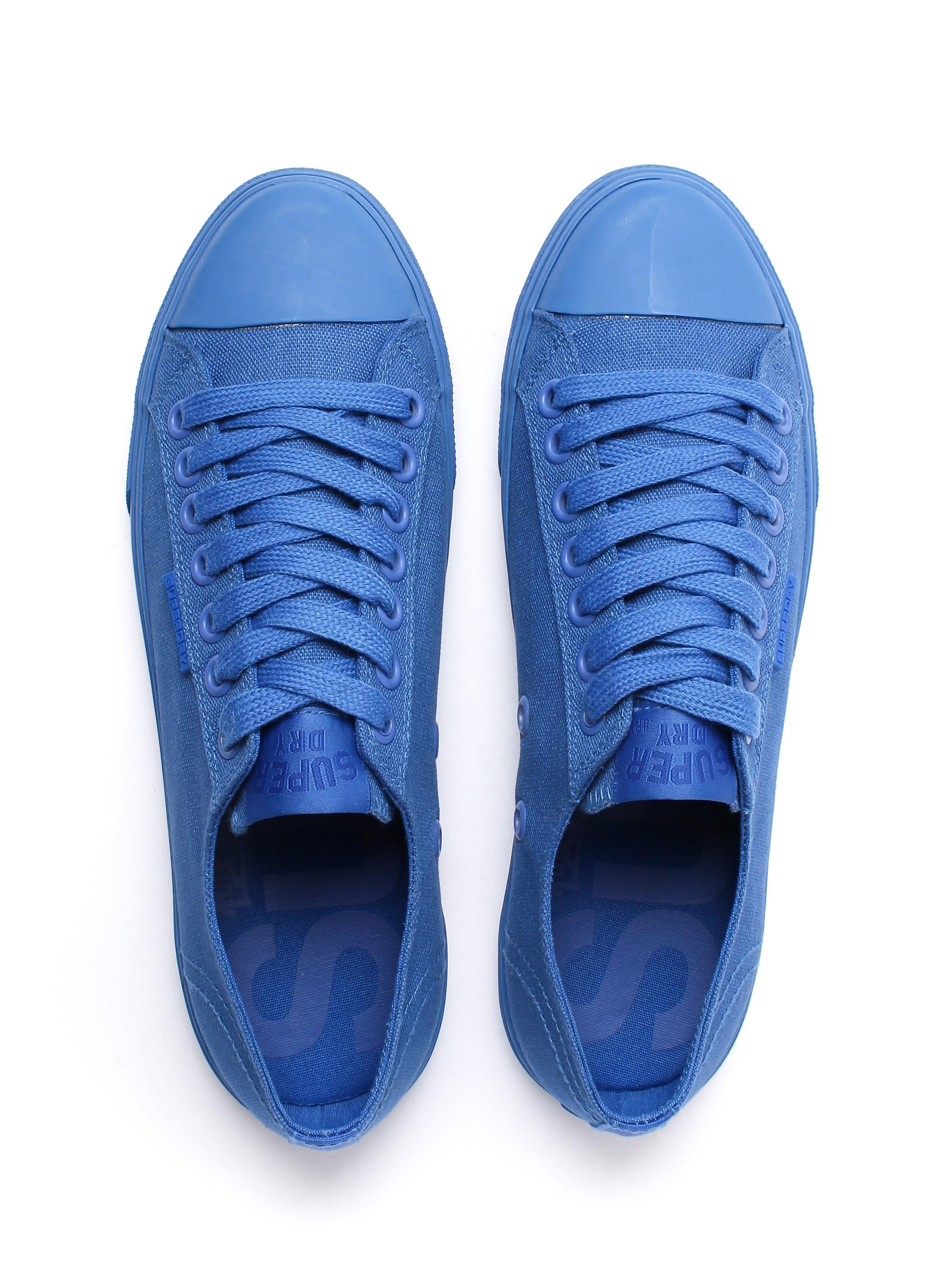 Superdry Men's Low Pro Sleek Mono Canvas Trainers - Nautical Blue