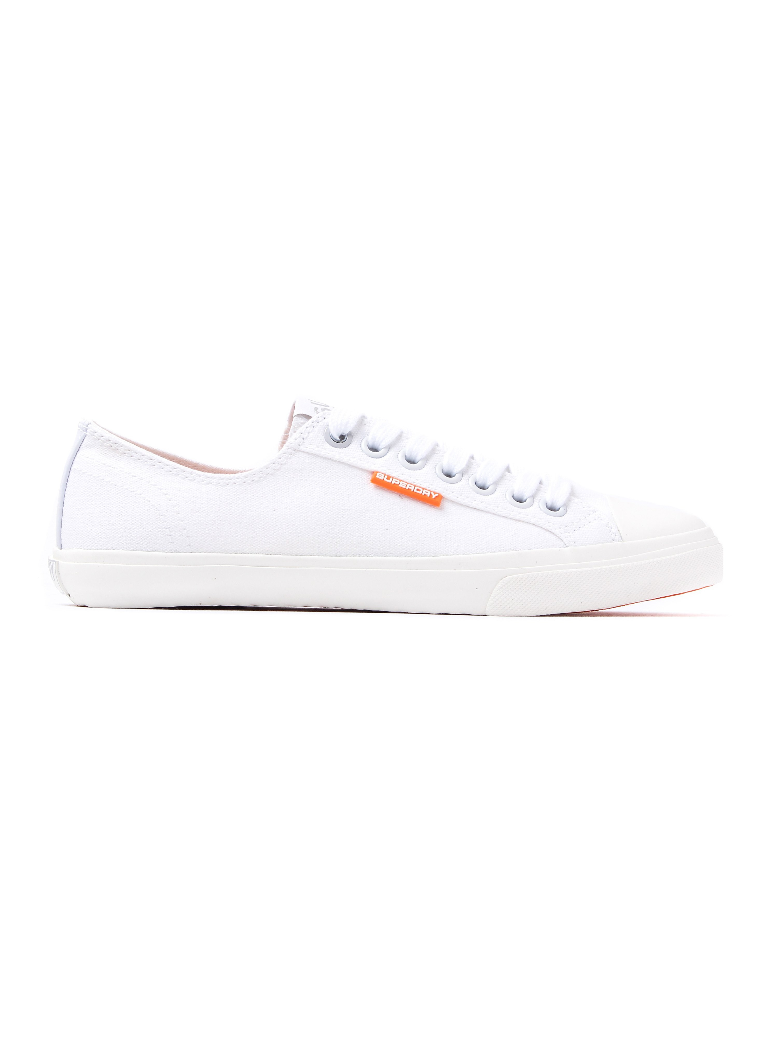 Superdry Men's Low Pro Sleek Canvas Trainers - White
