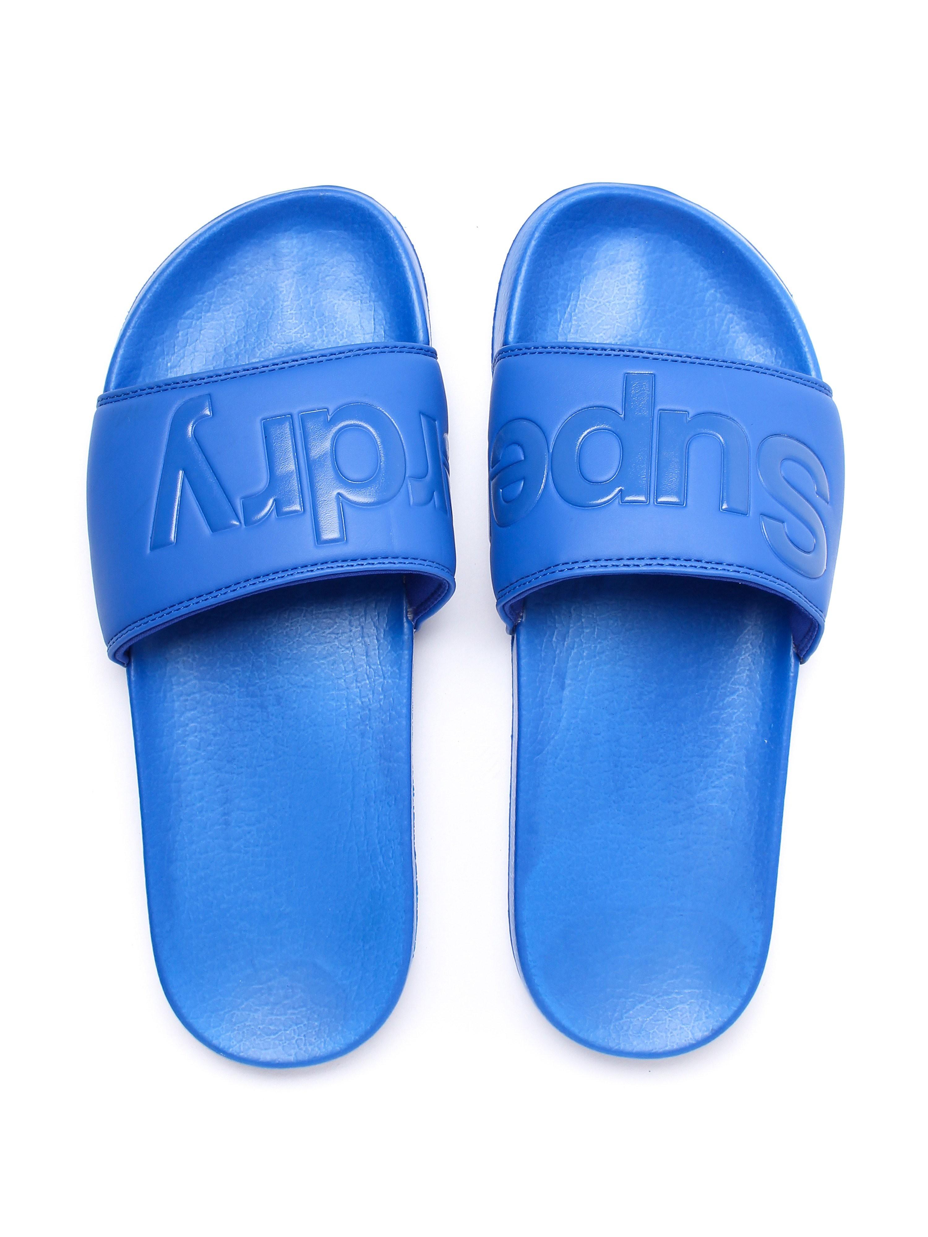 Superdry Men's Pool Slide Lightweight Sandals - Nautical Blue