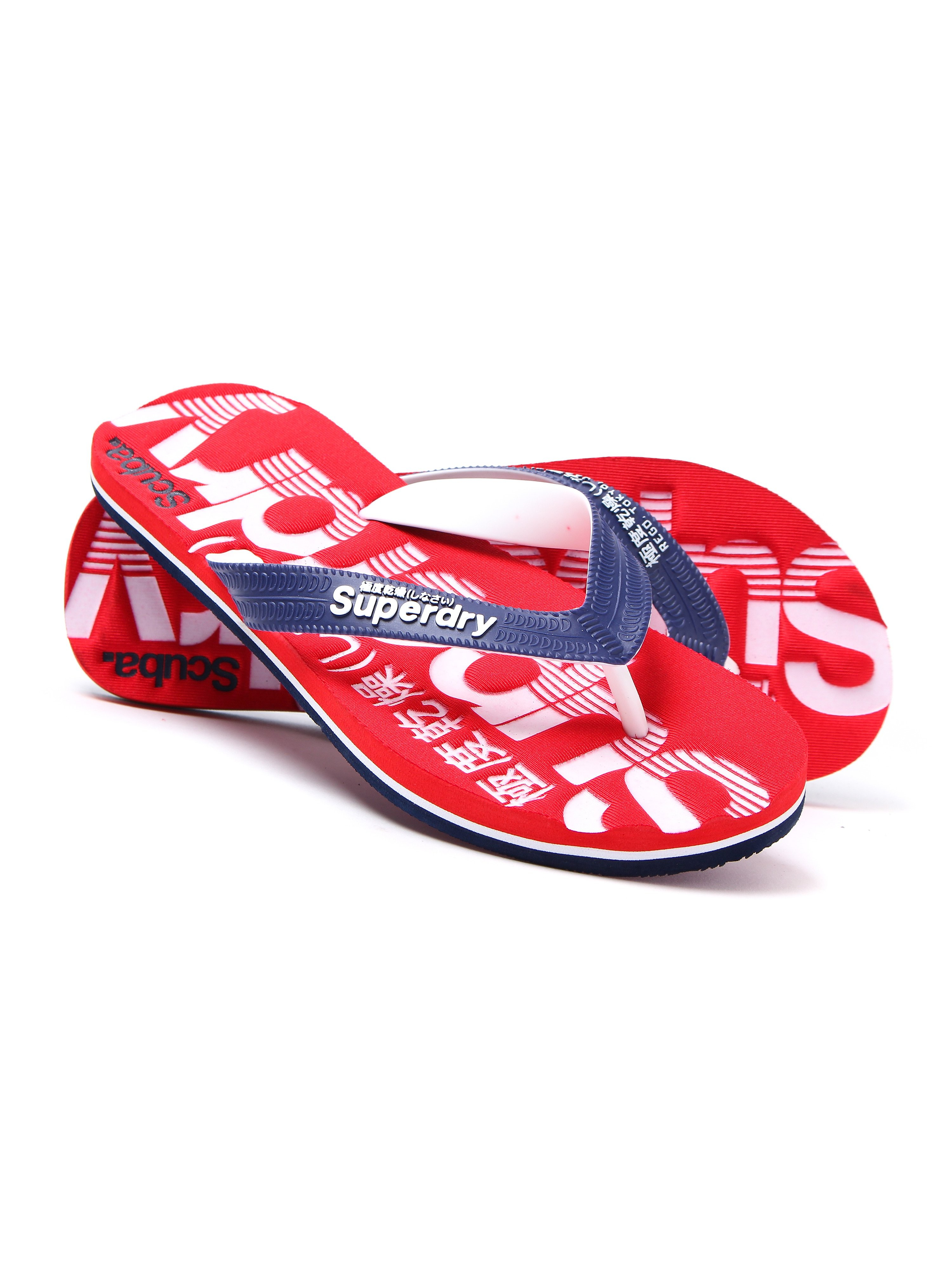 Superdry Men's Scuba Lightweight Flip Flops - Red & Navy