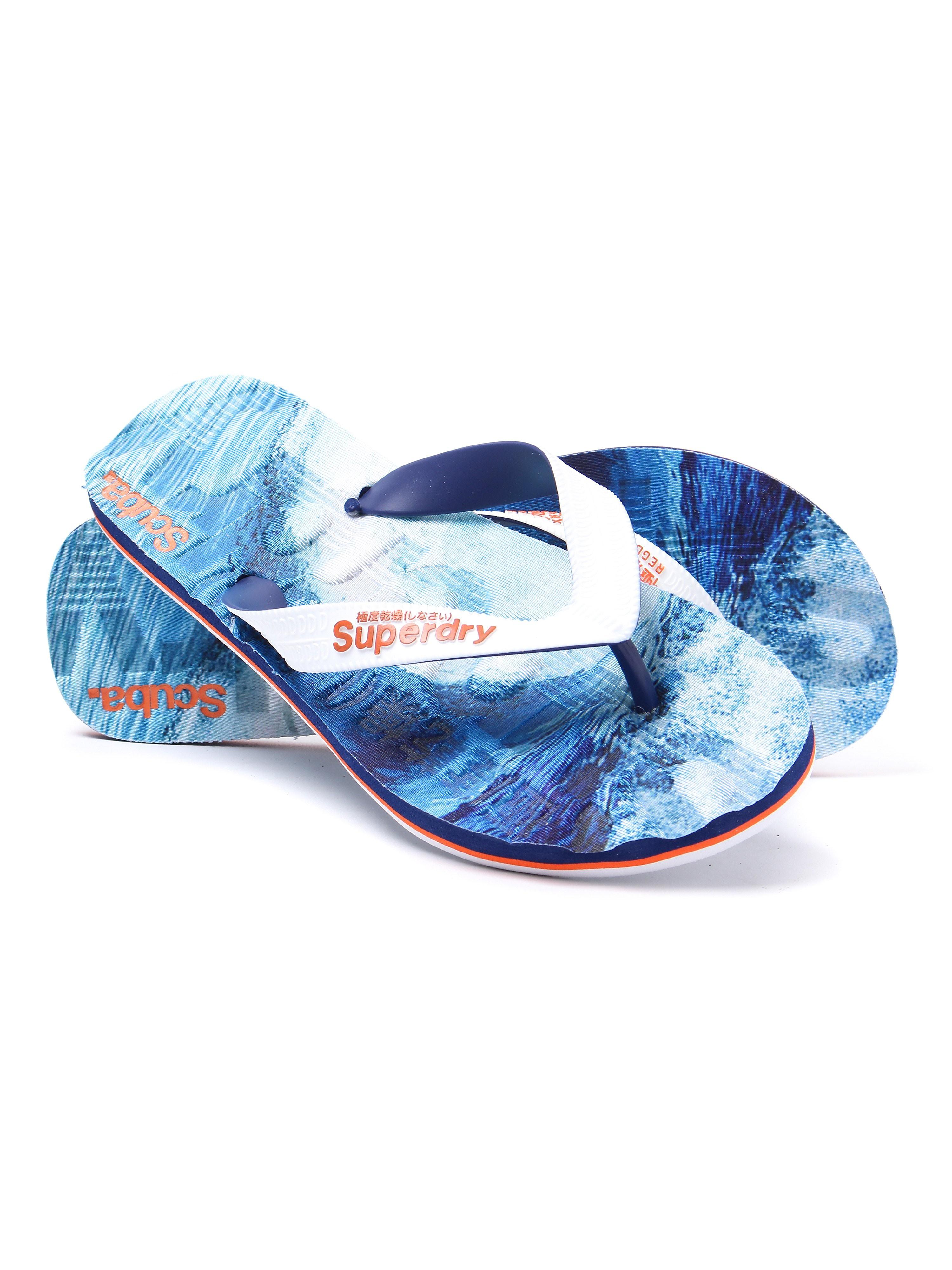 Superdry Men's Scuba Lightweight Flip Flops - Blue Tube Ride