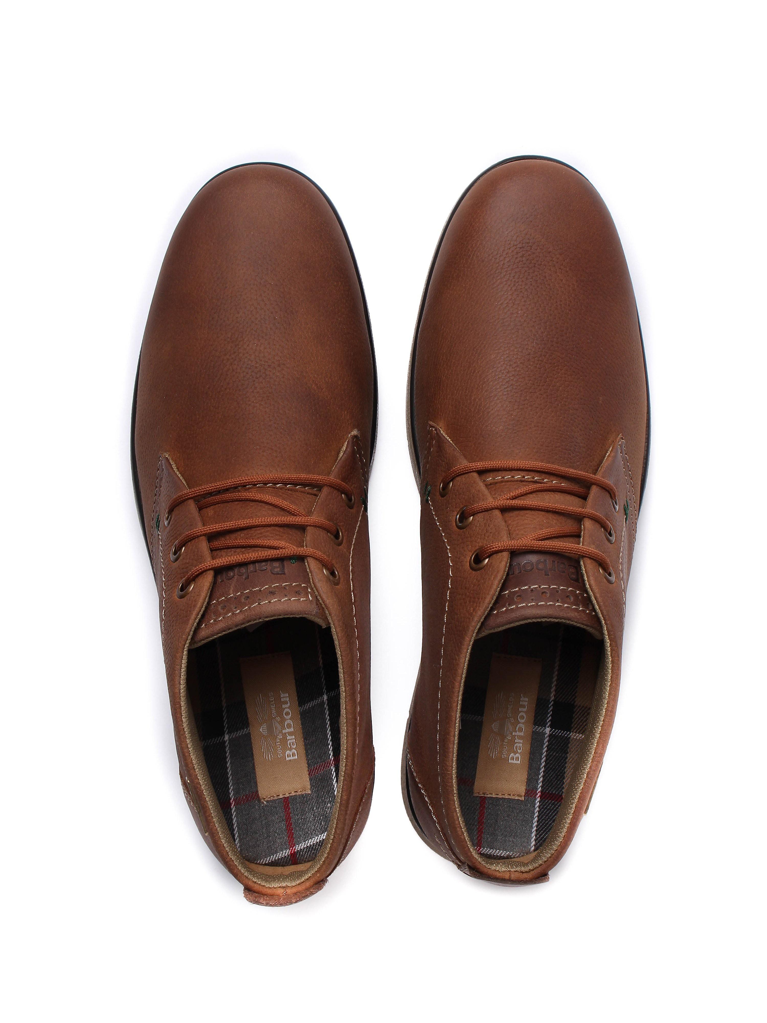 Barbour Men's Bowlam Nubuck Chukka Boots - Cognac