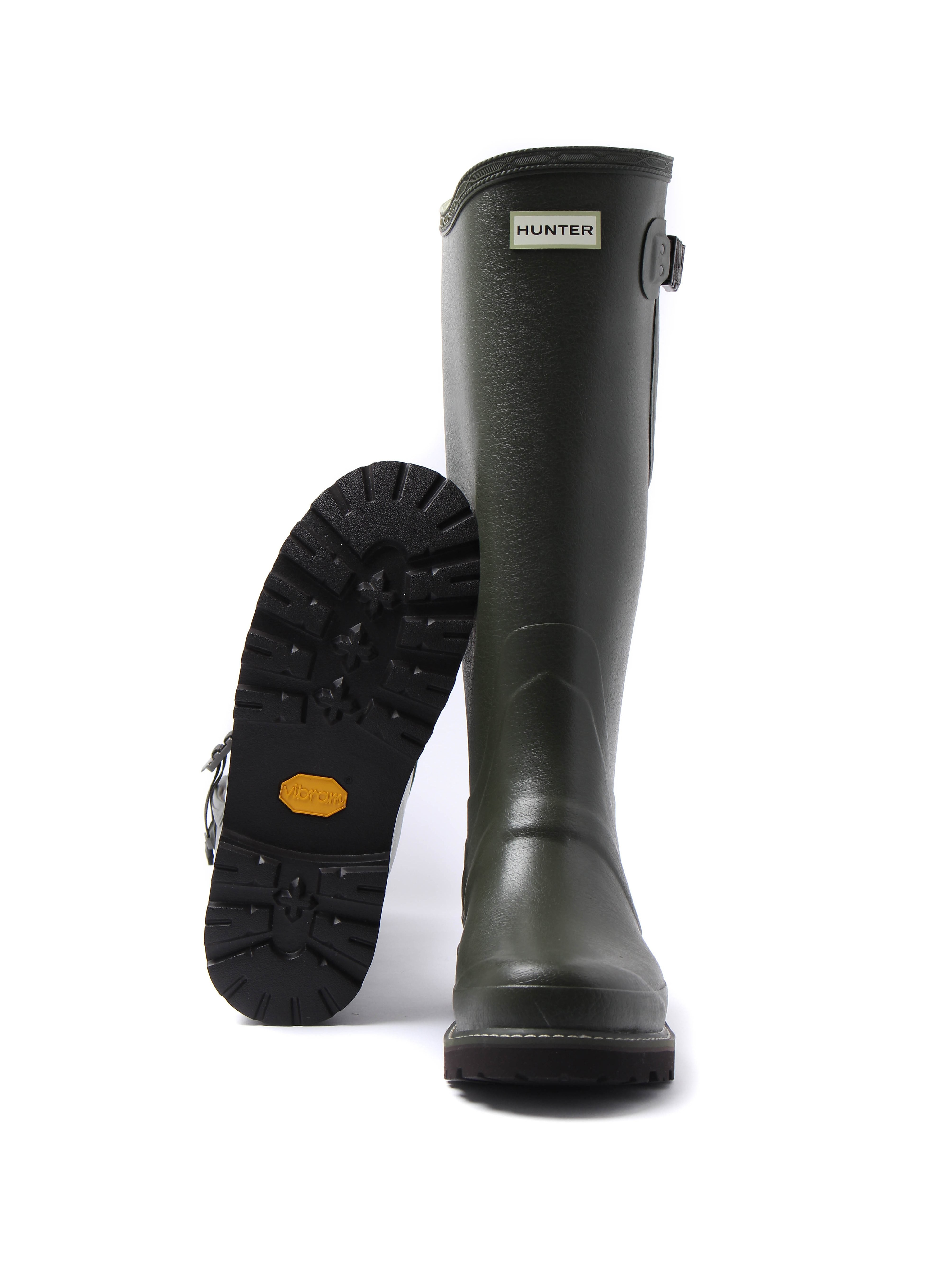 Hunter Wellies Men's Balmoral Sovereign Side Adjustable Wellington Boots - Dark Olive