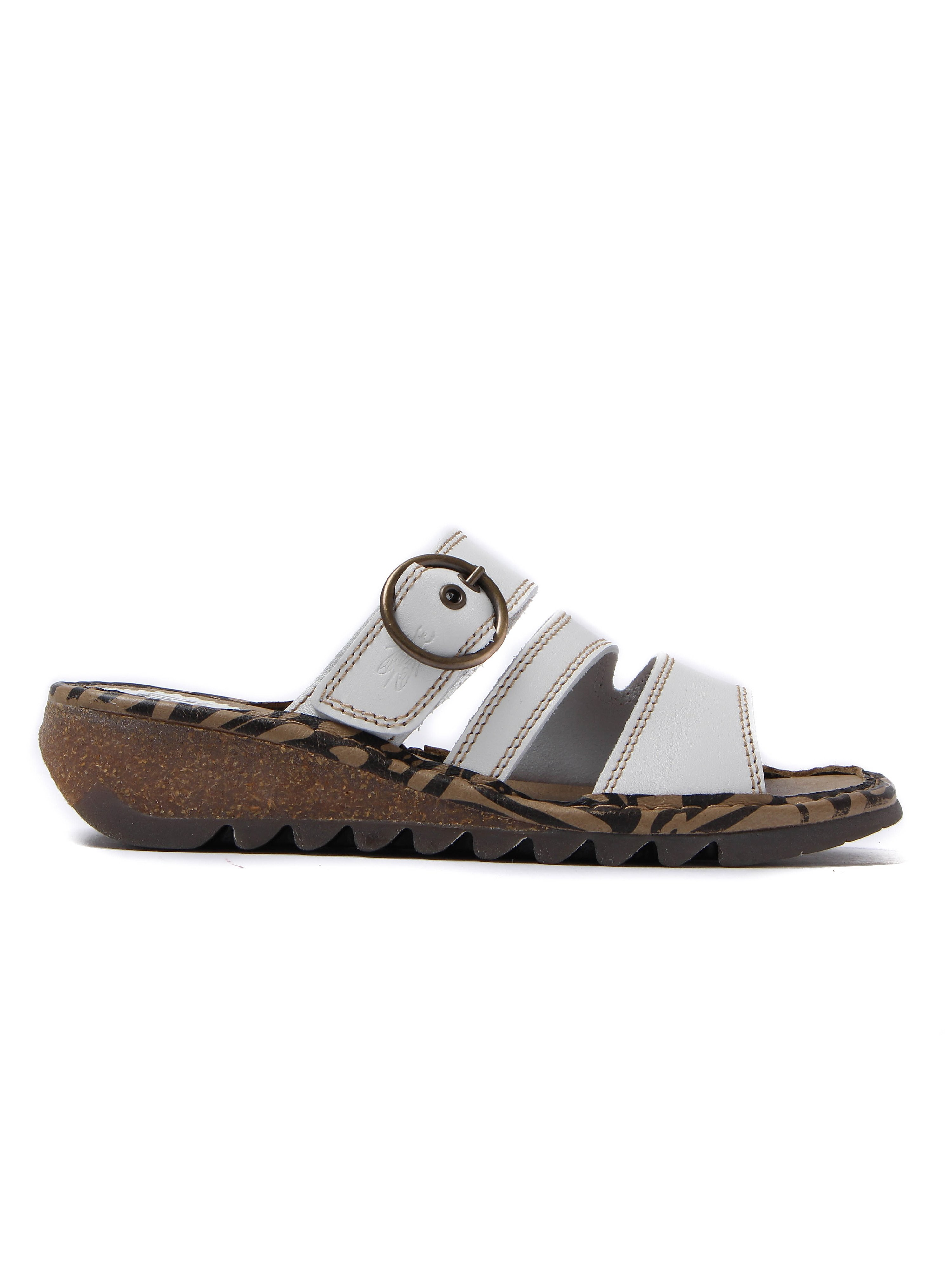 Fly London Women's Thea Bridle Leather Sandals - Off White