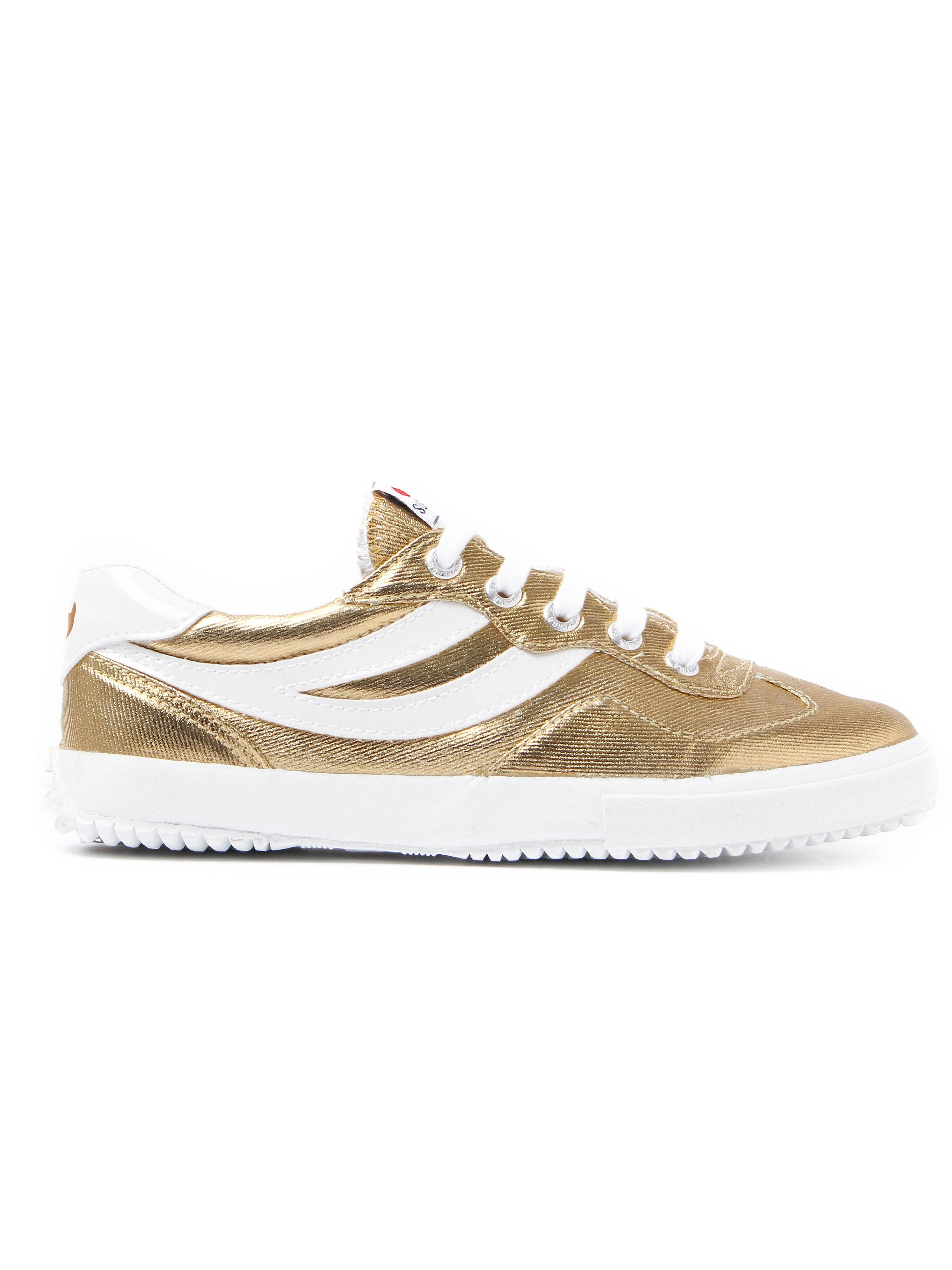 Superga Women's 2832 Cotmetw Metallic & Canvas Trainers - Gold