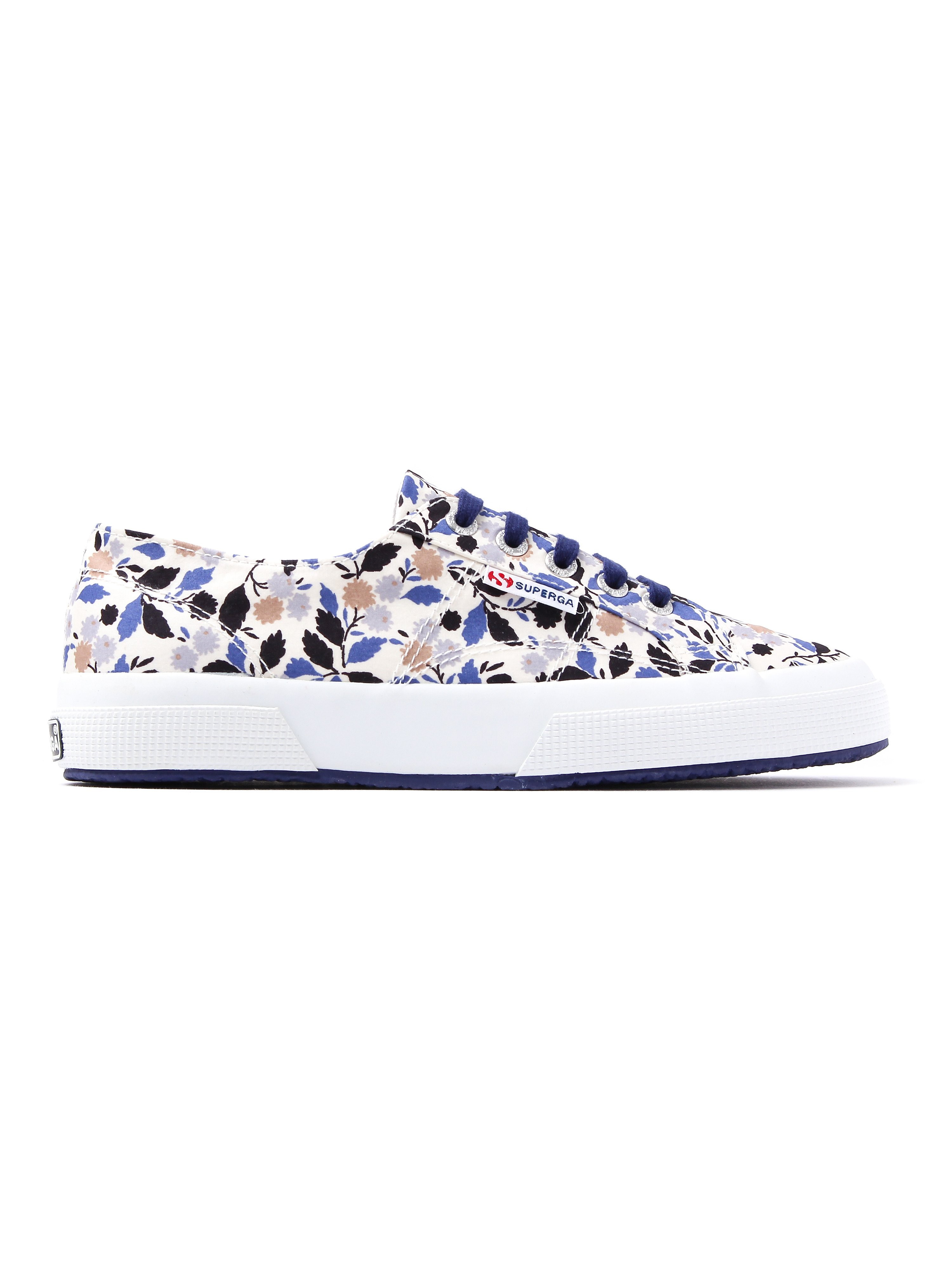Superga Women's 2750 Fabric Liberty Floral Print Trainers - Floral Blue & Beige
