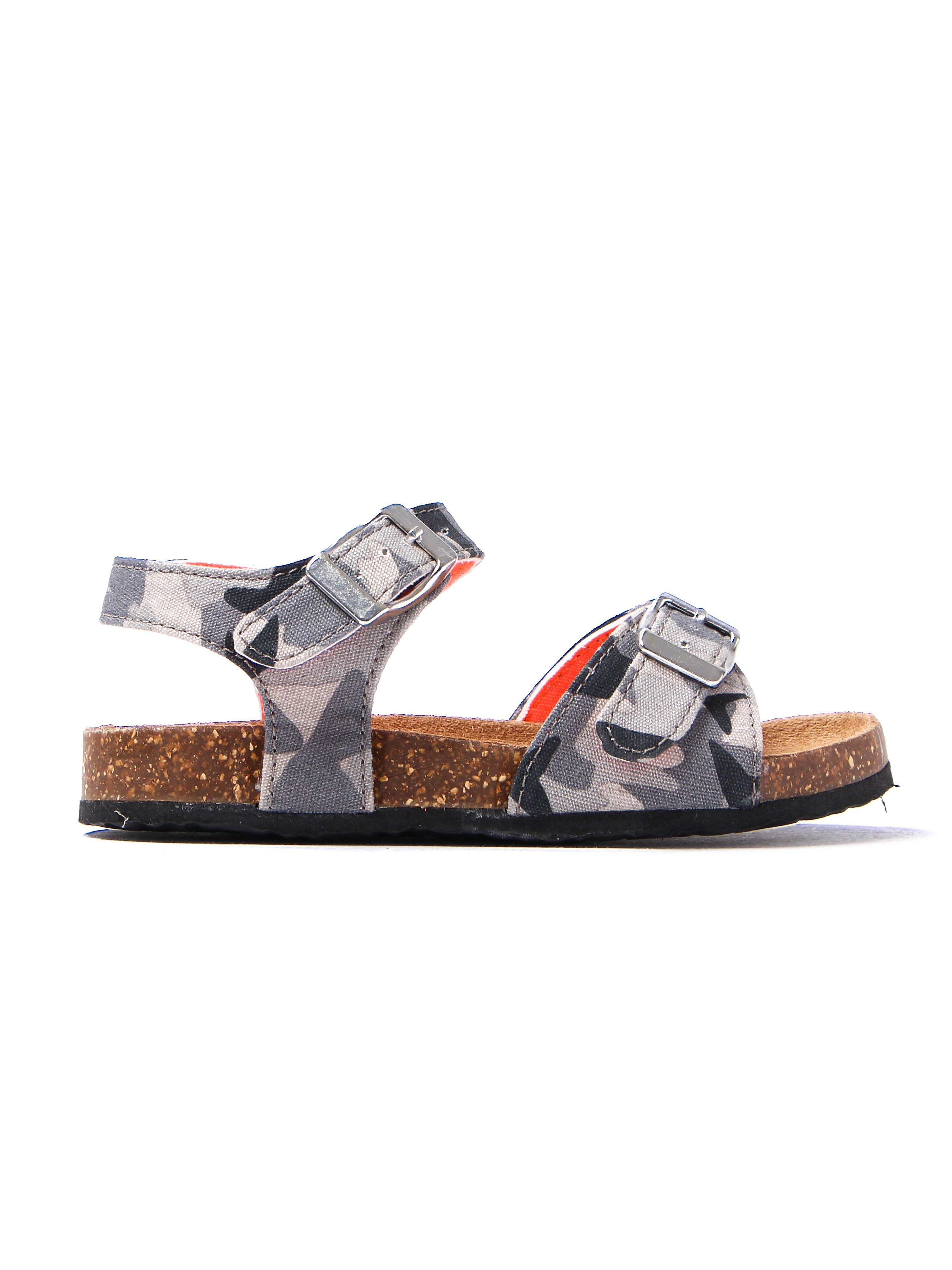 Joules Infant Tippy Toes Camo Sandals - Camouflage Grey