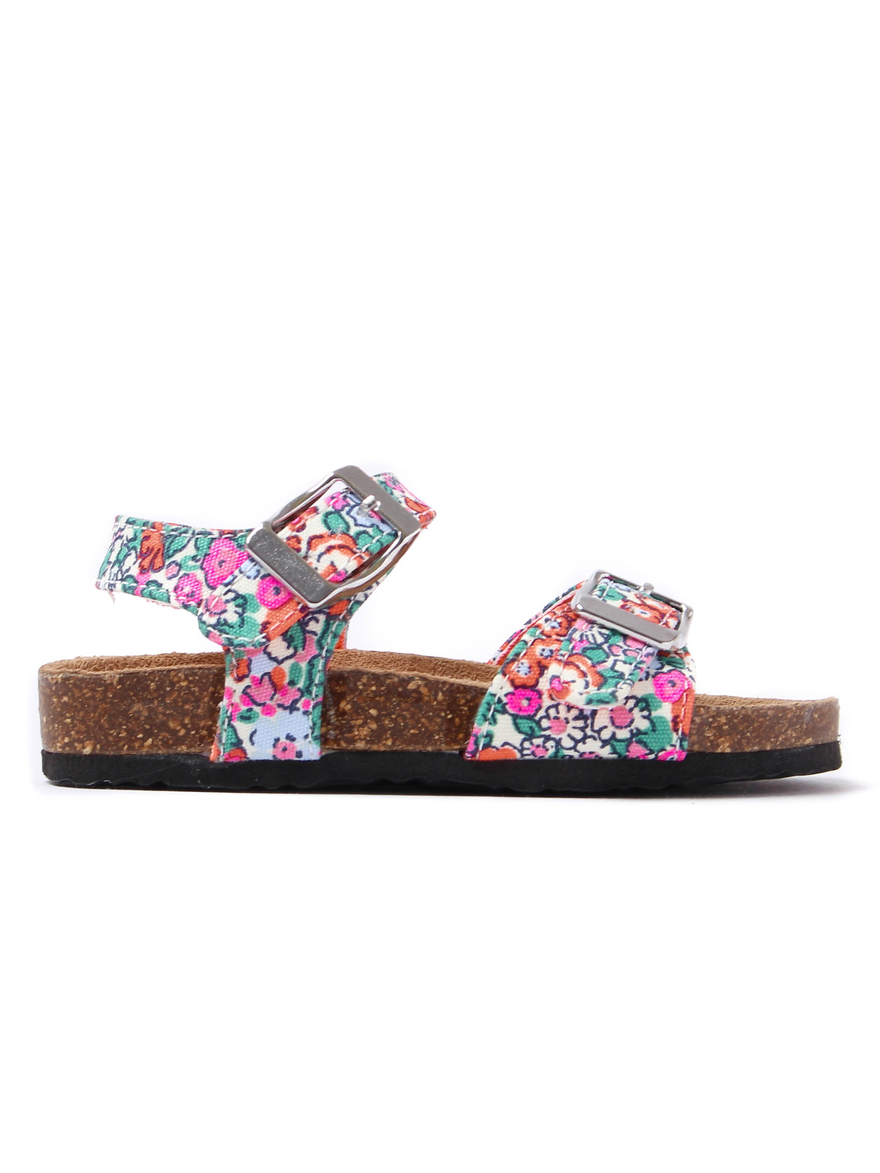 Joules Infant Tippytoes Ditsy Floral Strappy Sandals - Orange