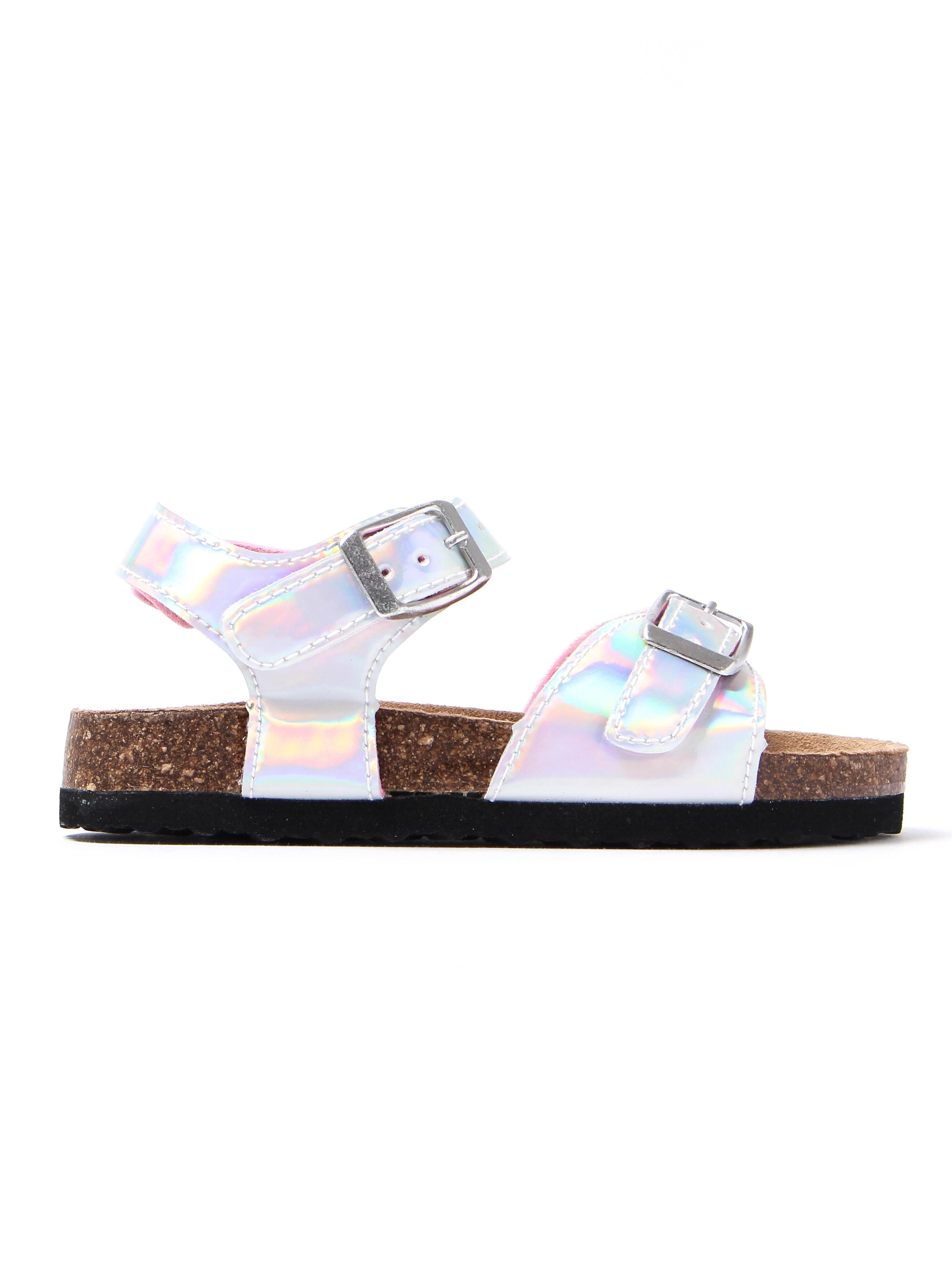Joules Infant Tippy Toes Metallic Sandals - Silver