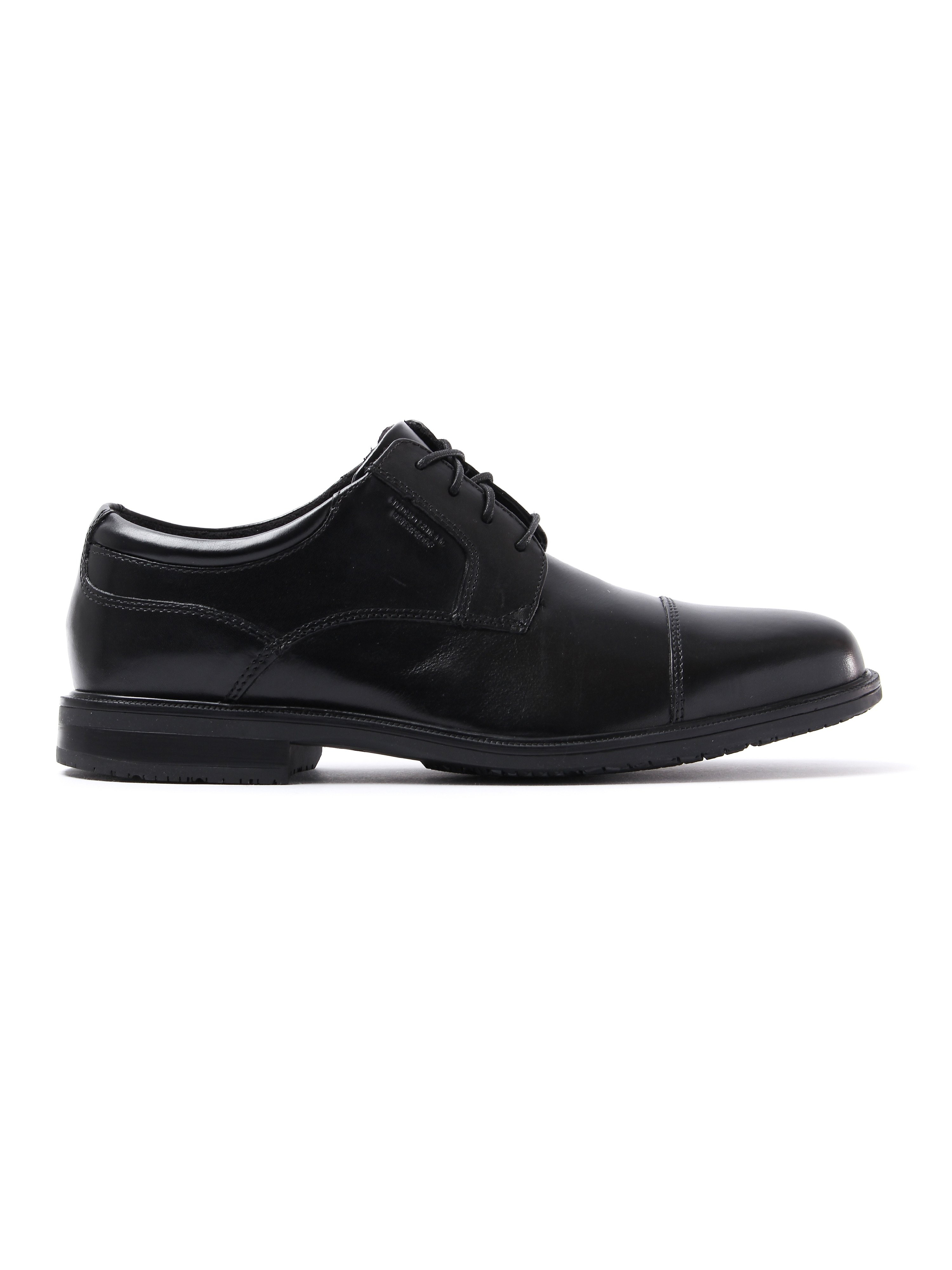 Rockport Mens Essential Detail II Cap Toe Leather Derby Shoes - Black